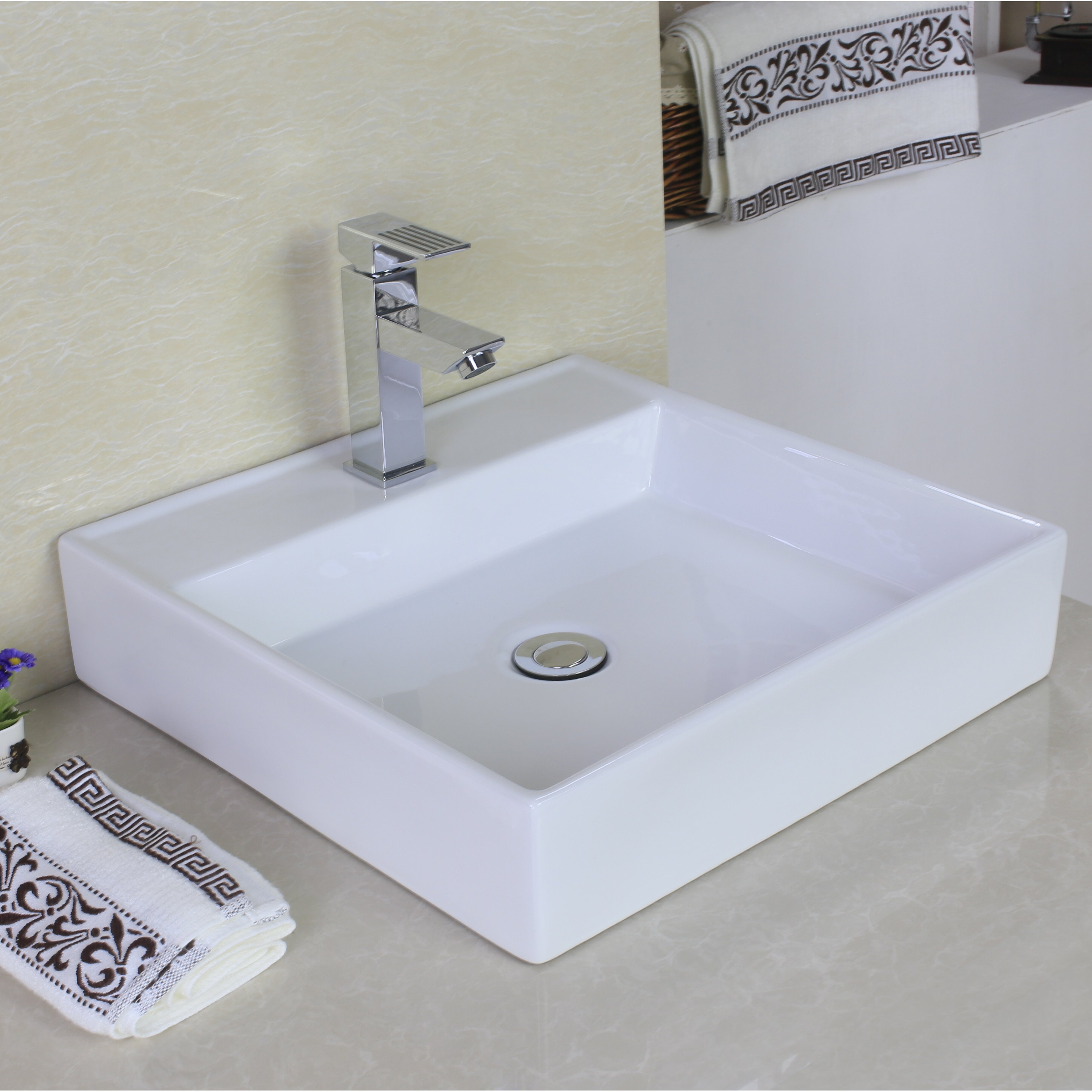 Above Counter Bathroom Sink : Above Counter Rectangle Vessel Bathroom Sink by American Imaginations