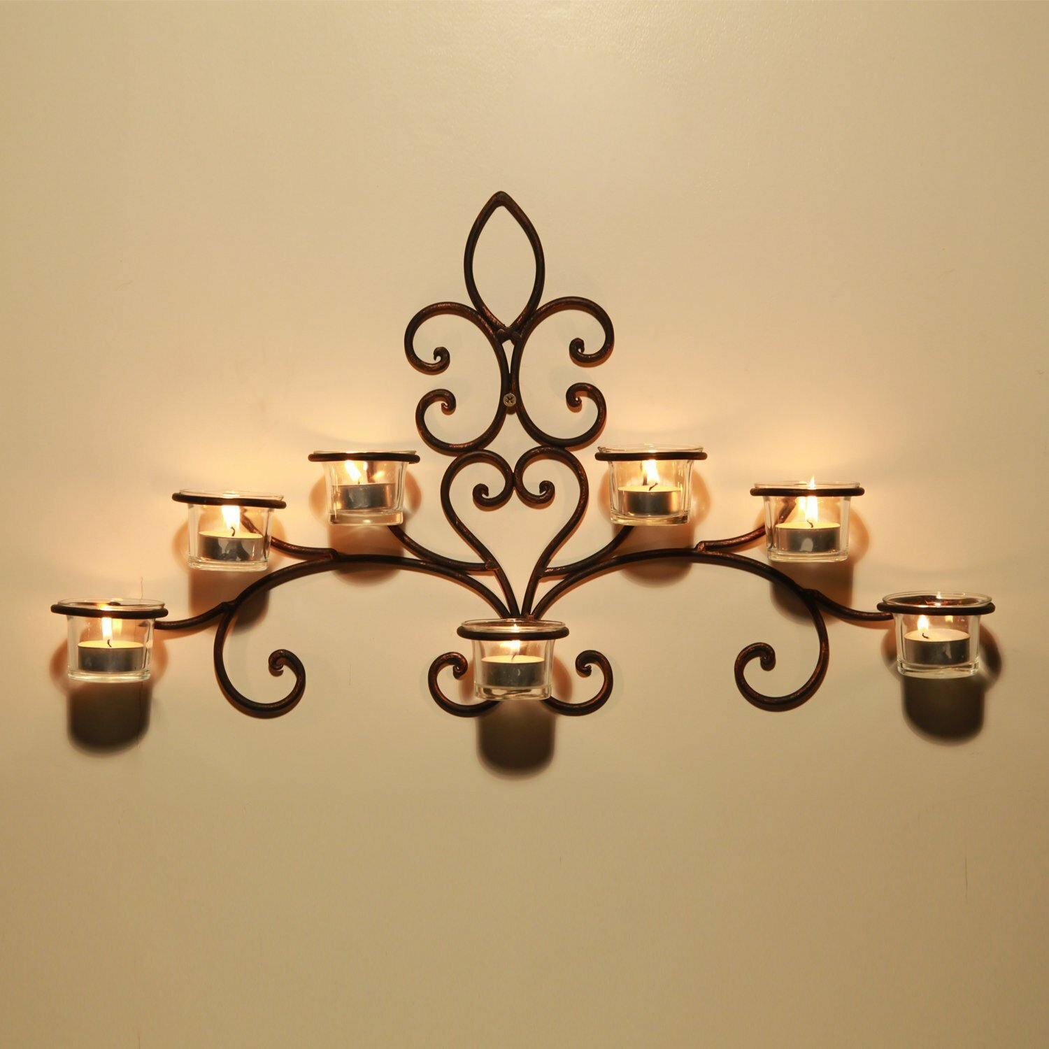 Iron Wall Sconce Candle Holder By Adeco Trading : AdecoTrading Iron Wall Sconce Candle Holder & Reviews Wayfair
