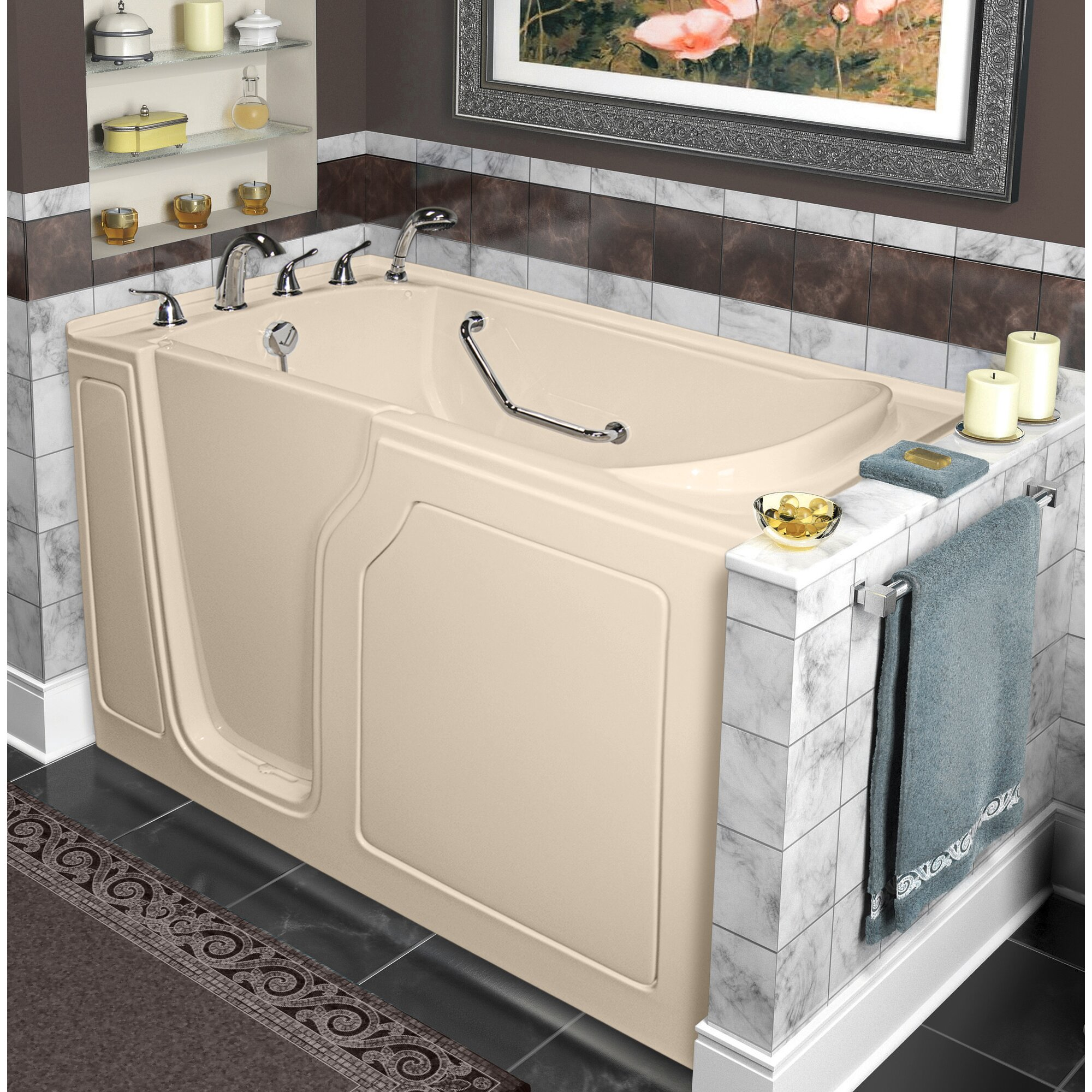 dignity 48 x 28 whirlpool and air jetted walk in bathtub wayfair. Black Bedroom Furniture Sets. Home Design Ideas