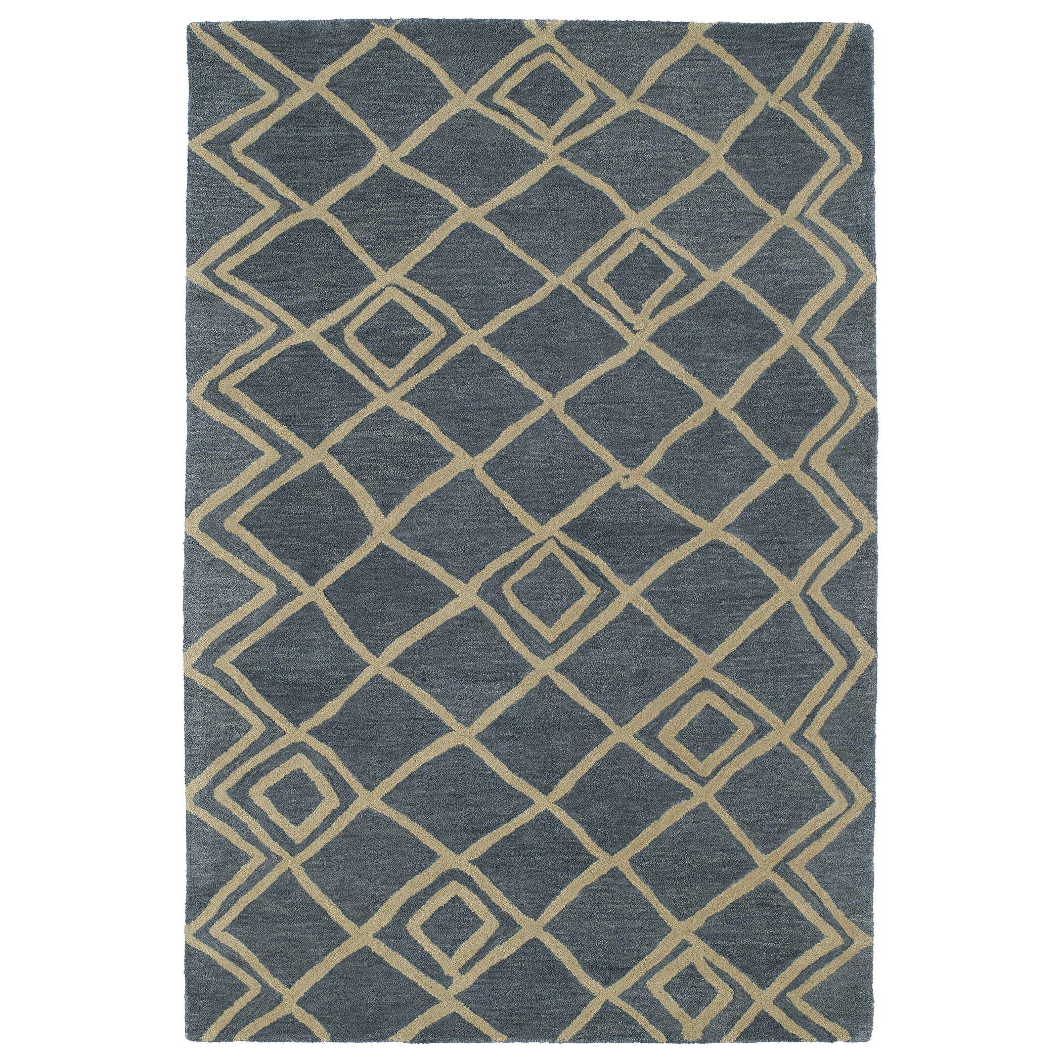 8 Apsley Place Kaleen Kaleen Casablanca Blue Geometric Rug Cas