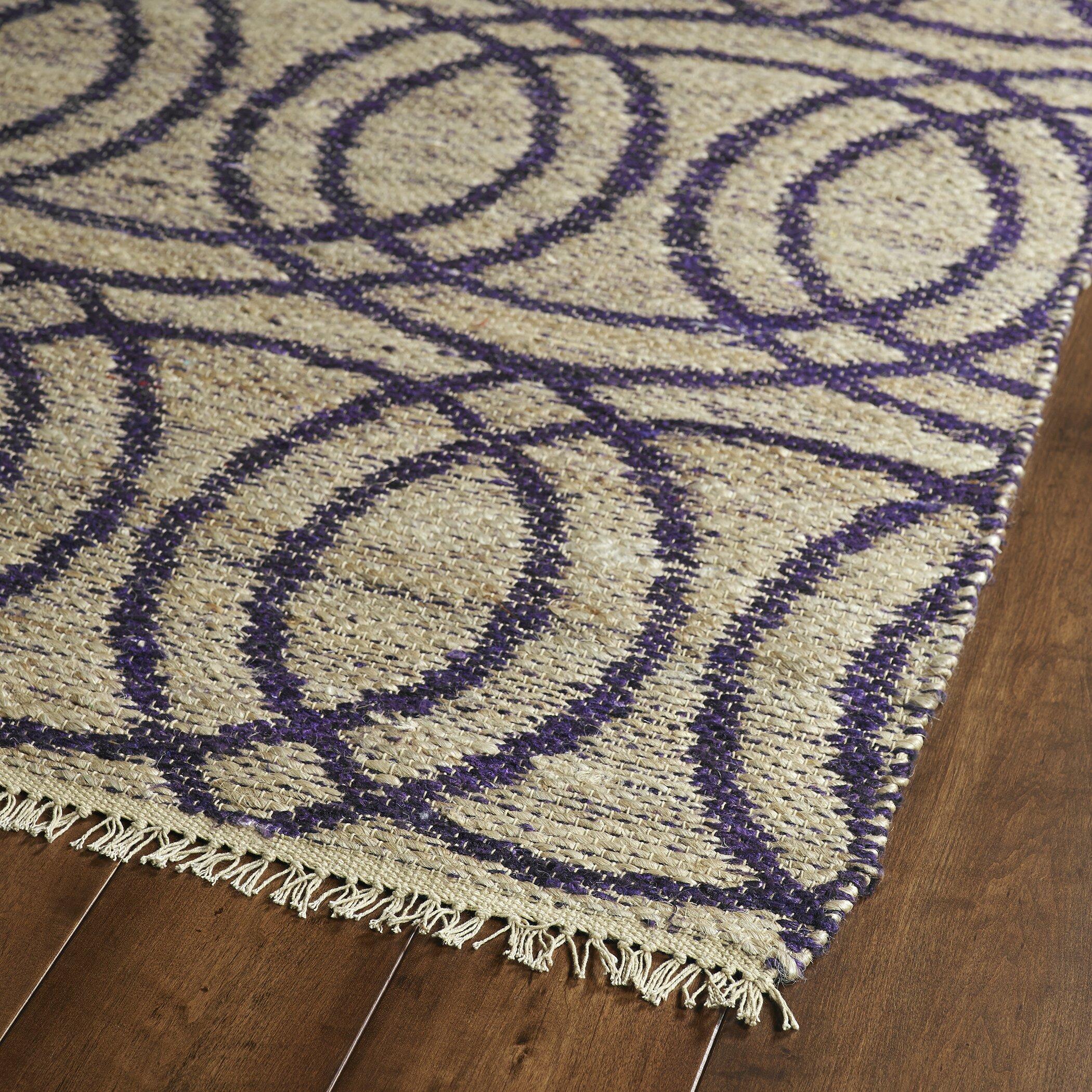 Purple And Gray Area Rugs: Kenwood Grey/Purple Area Rug