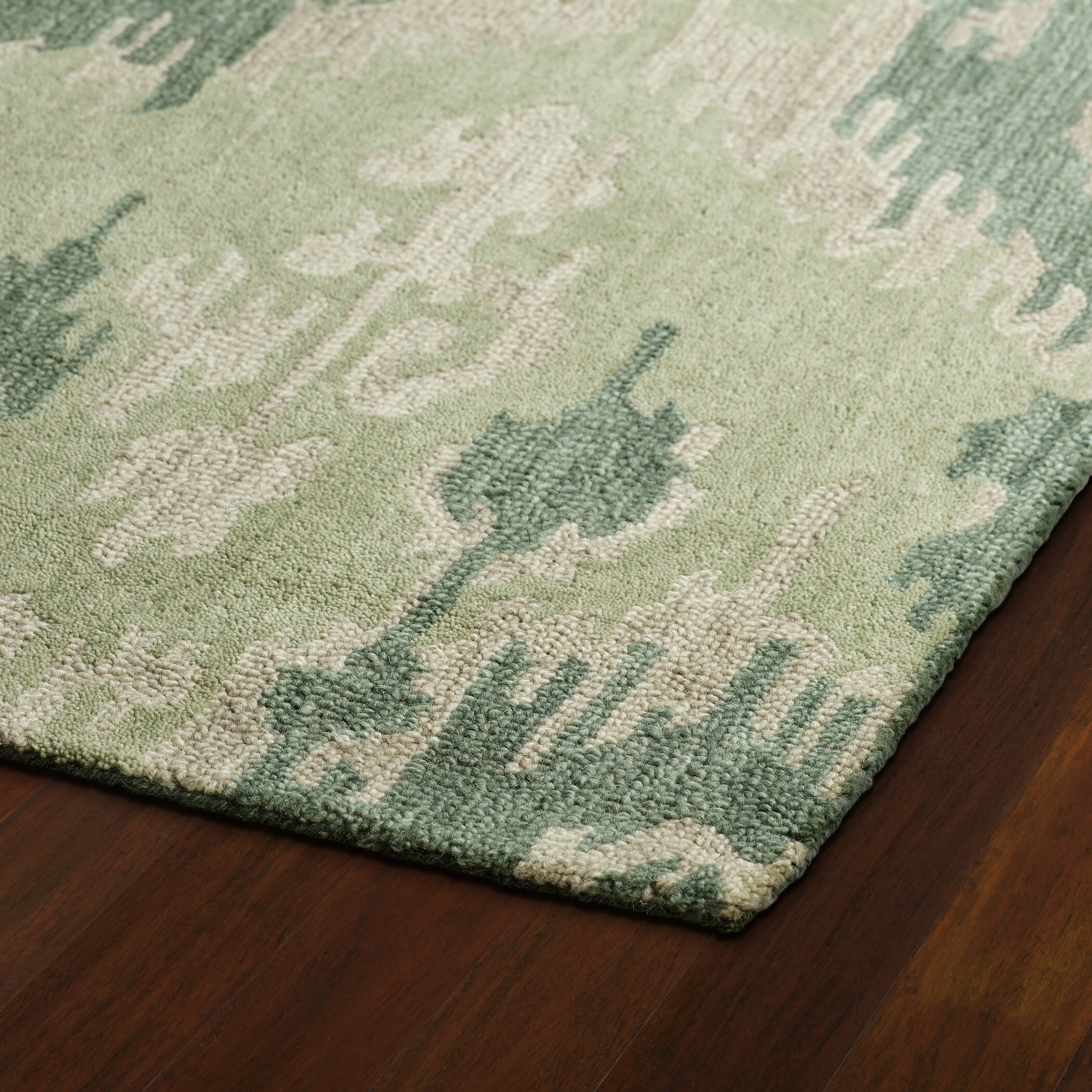 Casual Green Area Rug