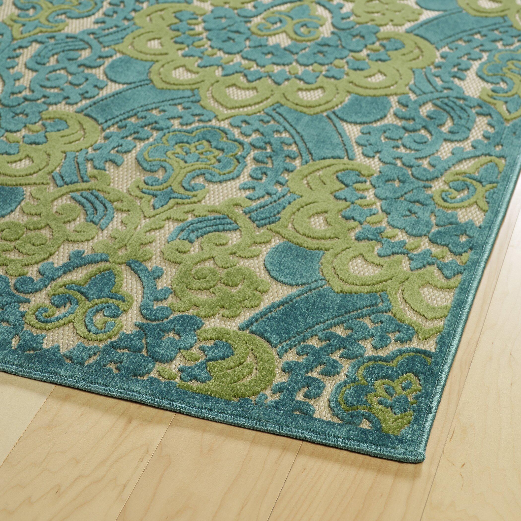Kaleen Five Seasons Blue Indoor Outdoor Area Rug & Reviews
