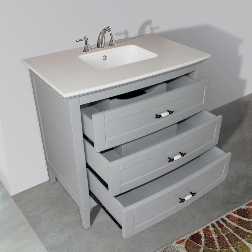 36 Single Sink Bathroom Vanity Set Wayfair