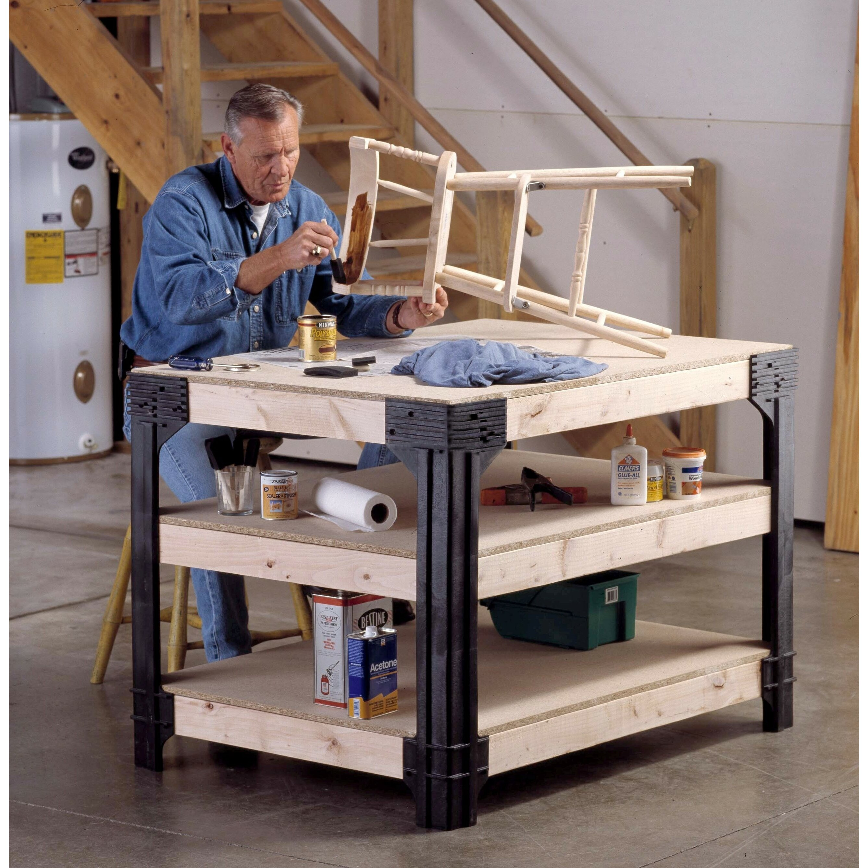 2x4 basics workbench leg reviews wayfair for Garage basics