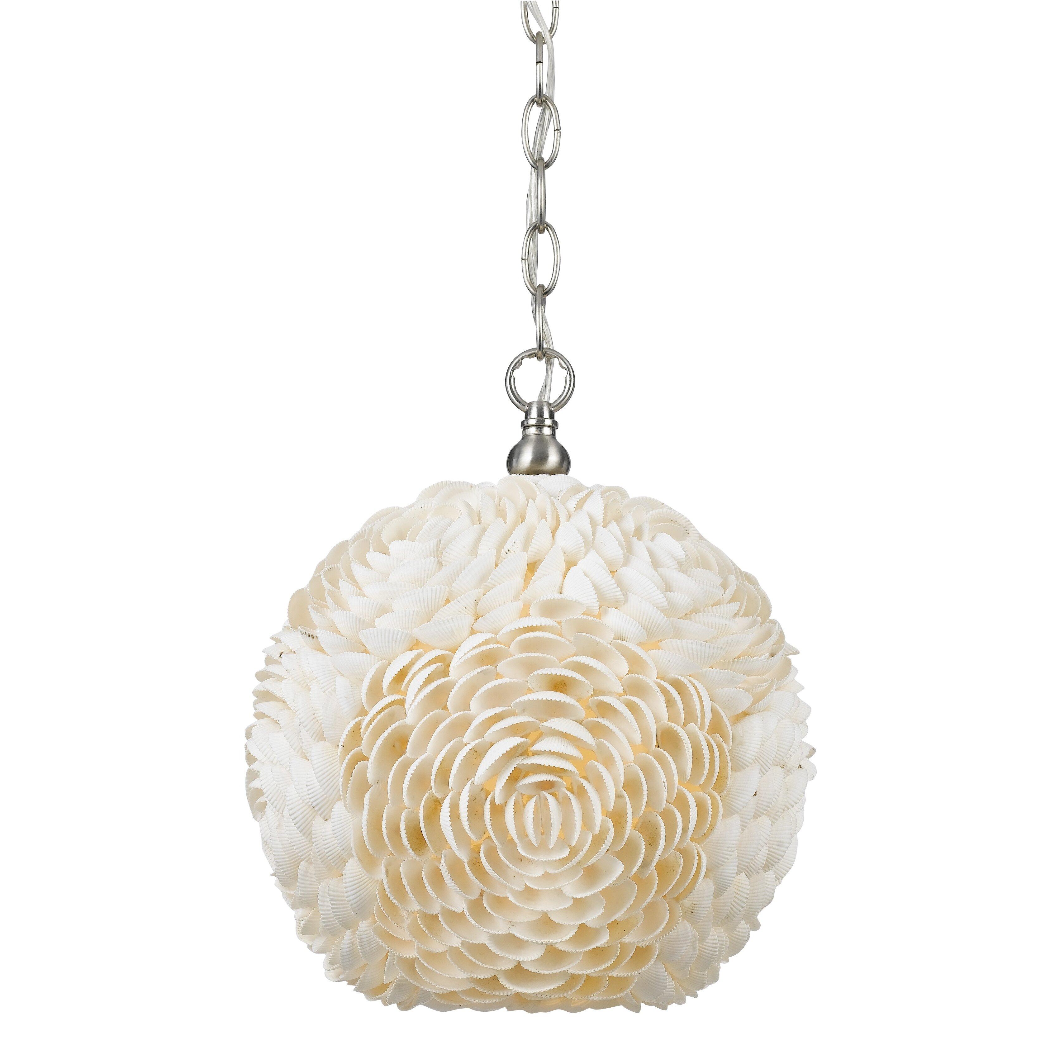 cal lighting sea shell 1 light mini pendant reviews