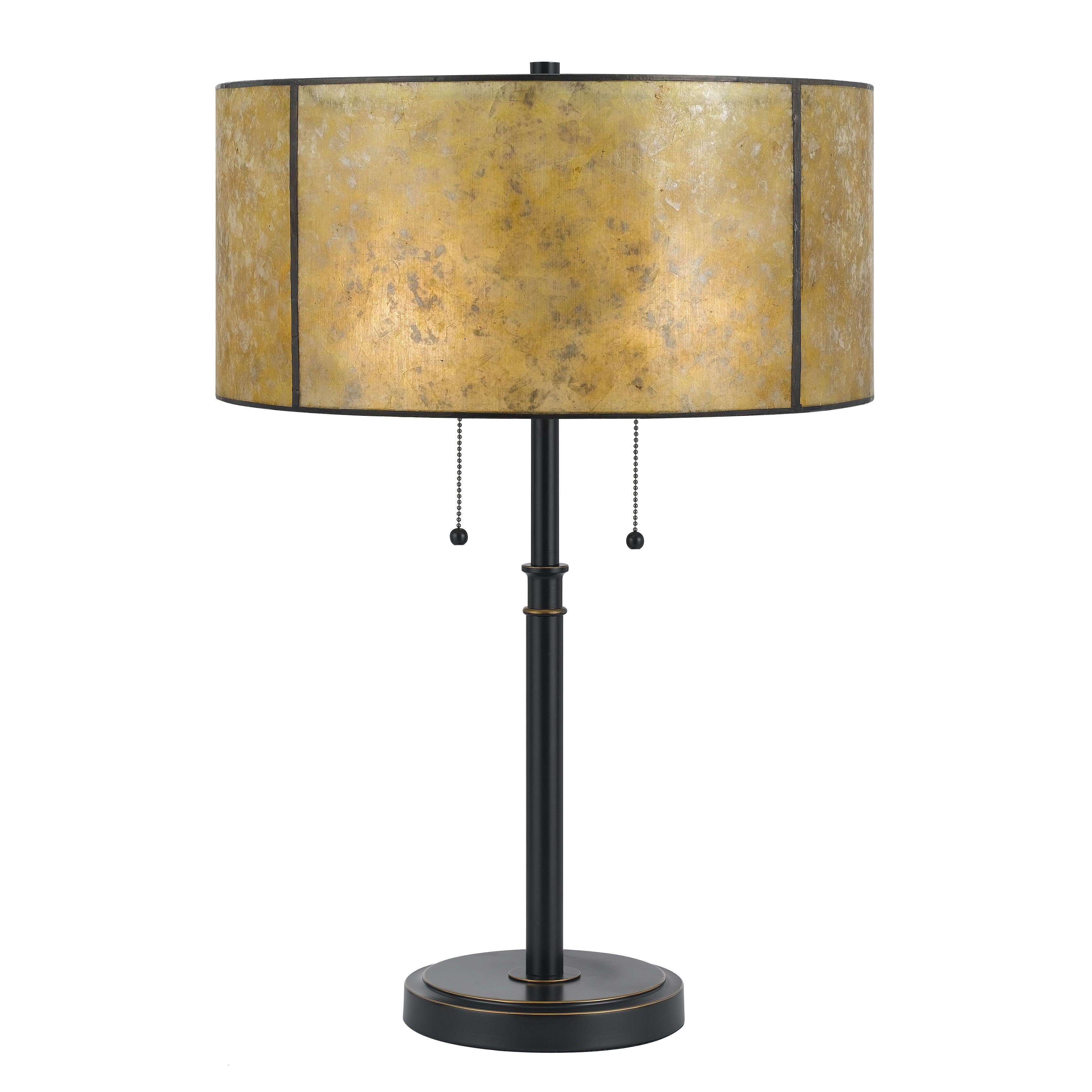 cal lighting mica 24 h table lamp with drum shade. Black Bedroom Furniture Sets. Home Design Ideas