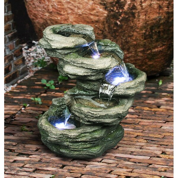 Fiber And Resin Rocks Fountain