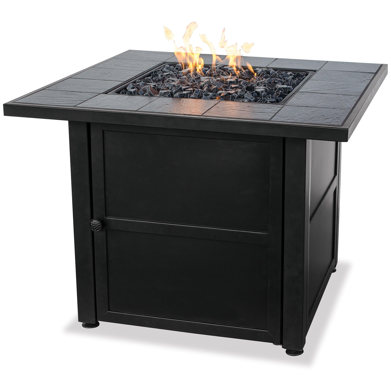 Blue Rhino Uniflame Ceramic Tile Lp Gas Fire Pit Table Reviews Wayfair