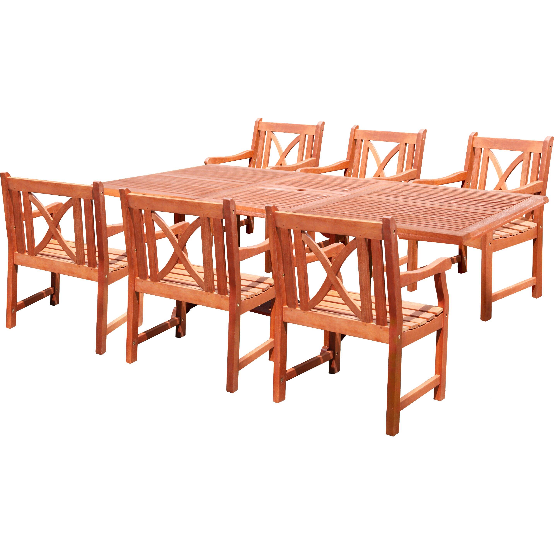 patio 7 piece dining set wayfair