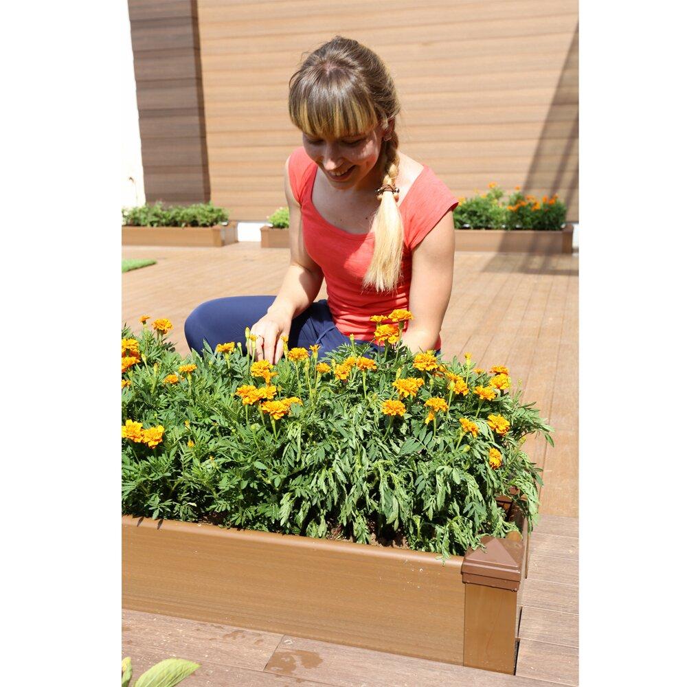 Composite Pvc Planter Boxes For Decks And Patios: NewTechWood Composite Lumber Rectangular Patio Raised
