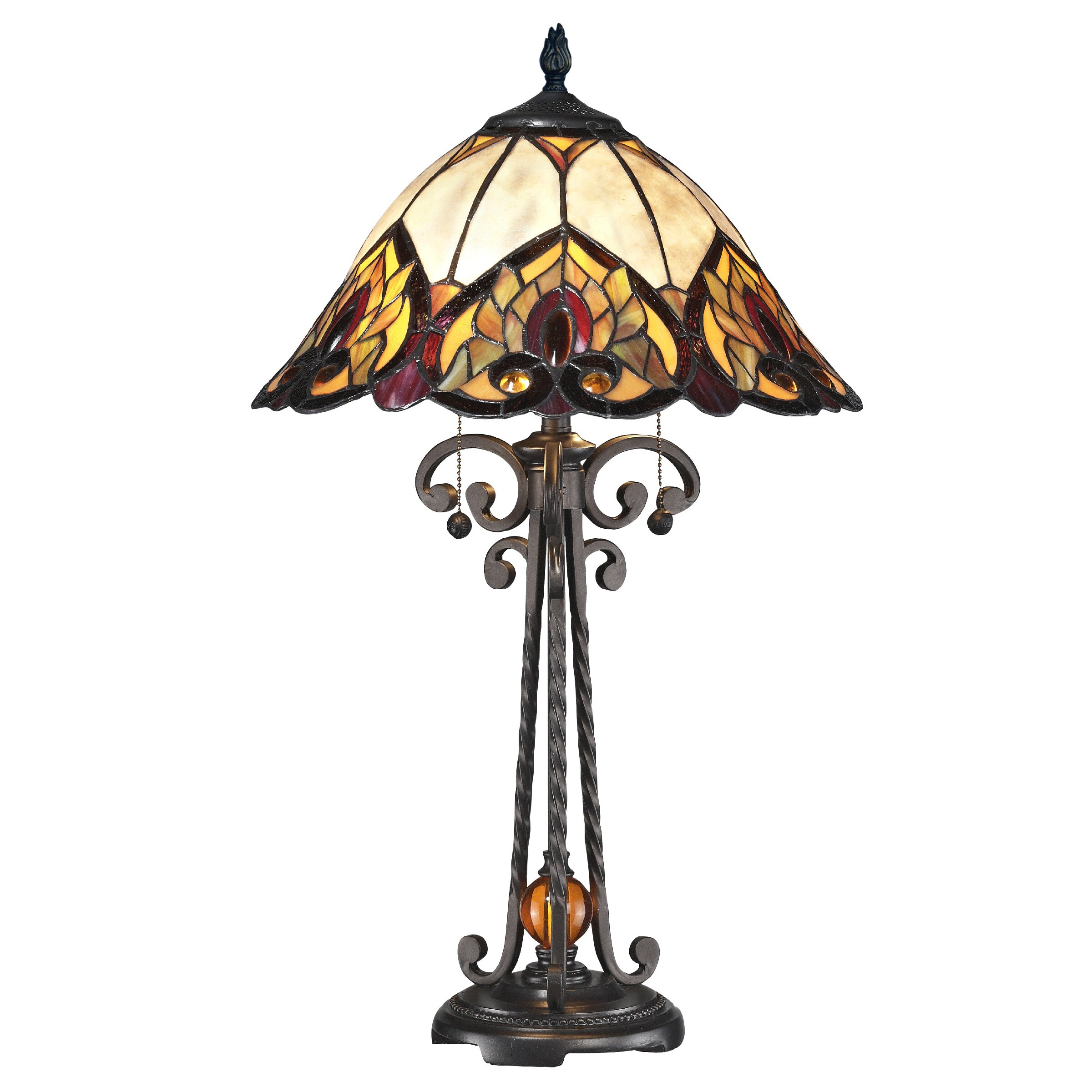 dale tiffany reservoir 25 5 h table lamp with bell shade. Black Bedroom Furniture Sets. Home Design Ideas