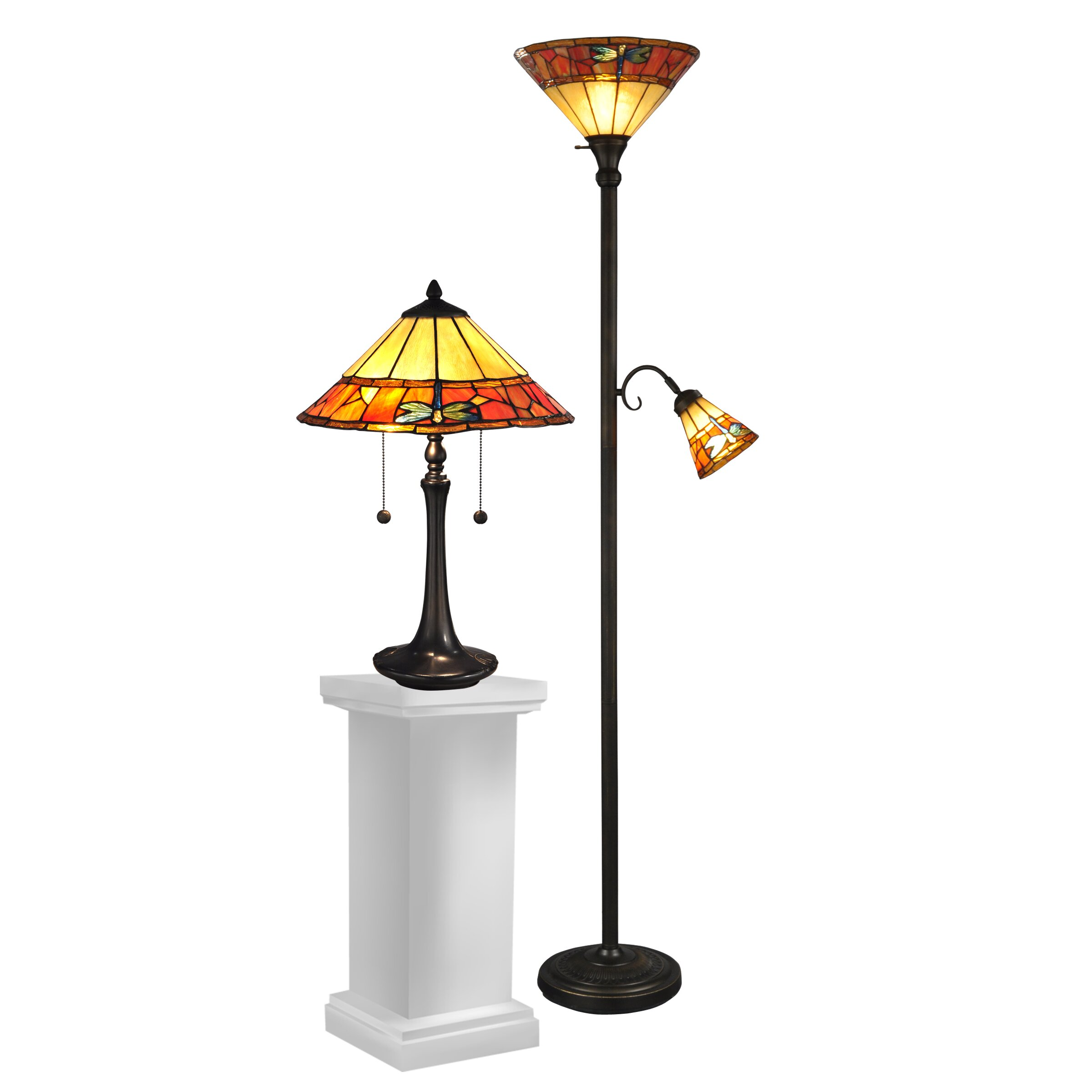 wheeler lamphere 2 piece table and floor lamp set reviews wayfair. Black Bedroom Furniture Sets. Home Design Ideas
