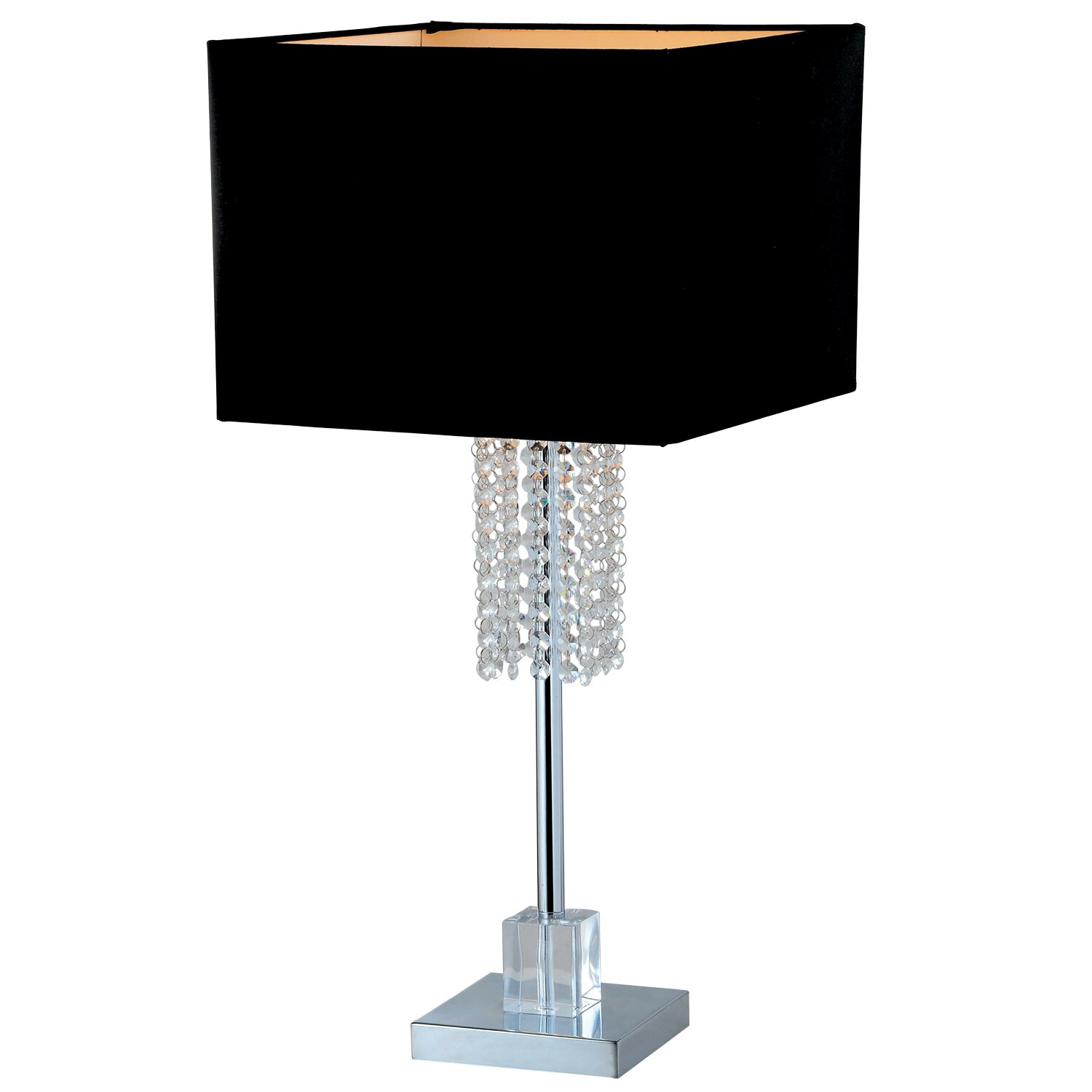 "Artiva USA Adelyn 27"" Table Lamp with Square Shade ..."