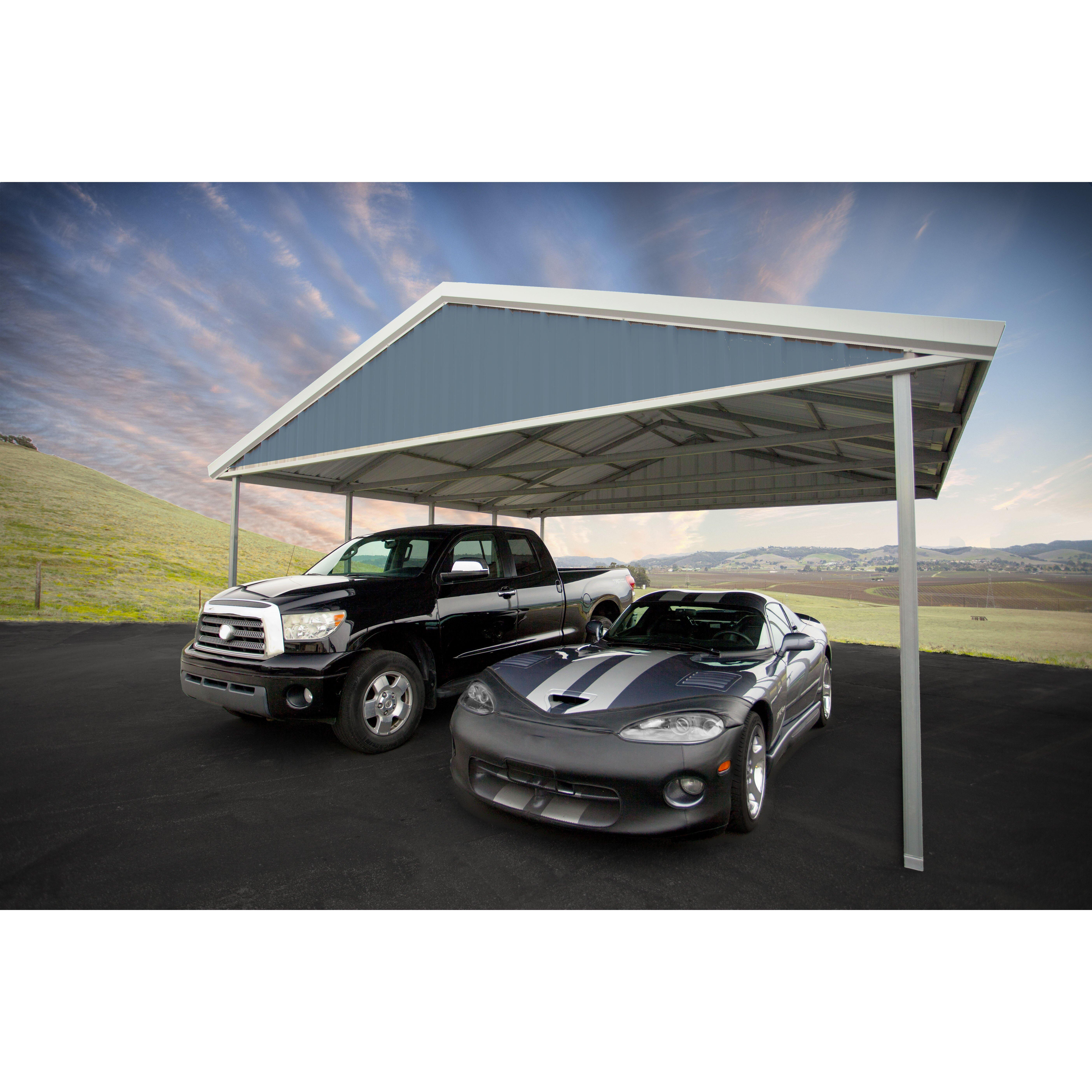 premium canopy 20 ft w x 24 ft d car port reviews wayfair. Black Bedroom Furniture Sets. Home Design Ideas