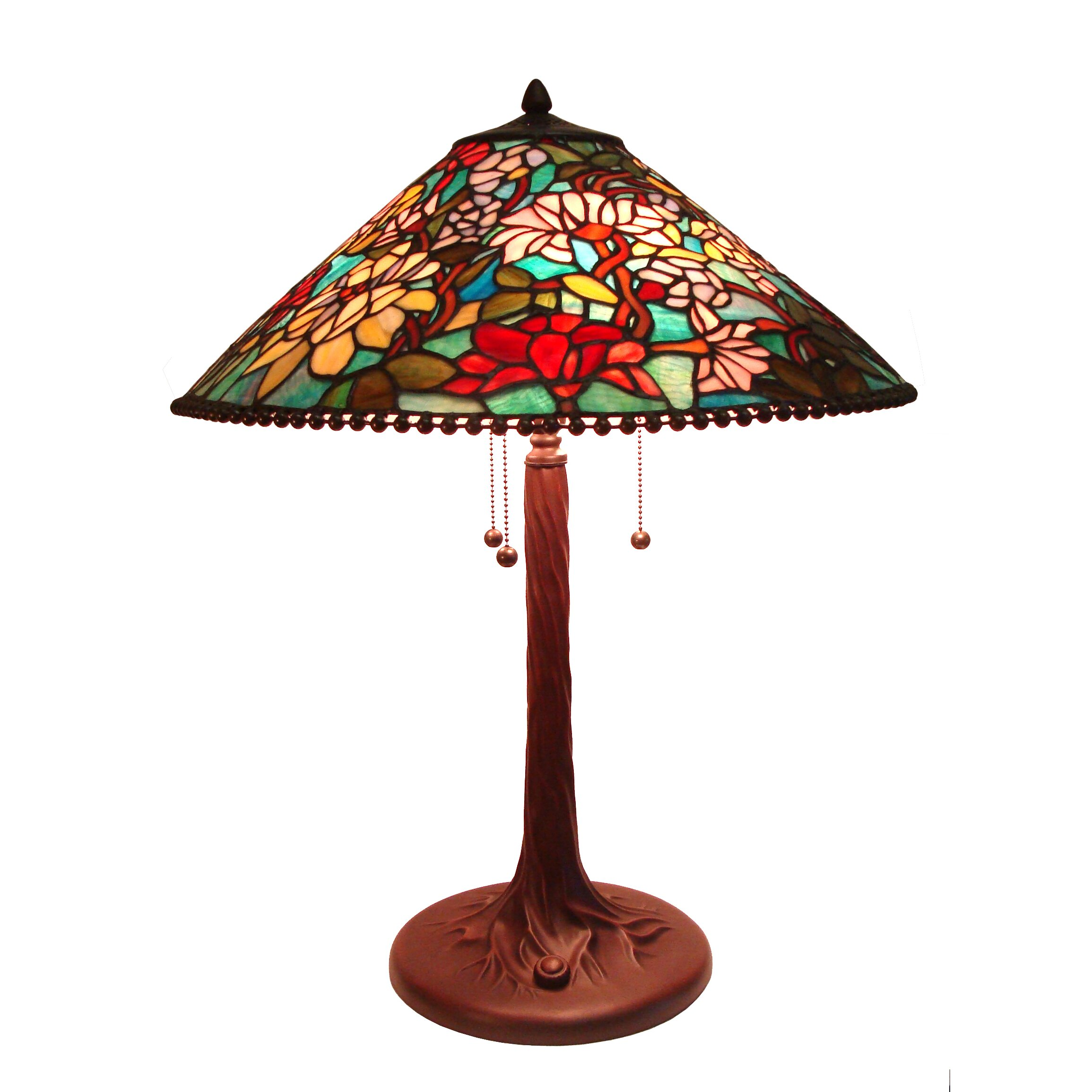 tiffany 26 h table lamp with cone shade wayfair. Black Bedroom Furniture Sets. Home Design Ideas