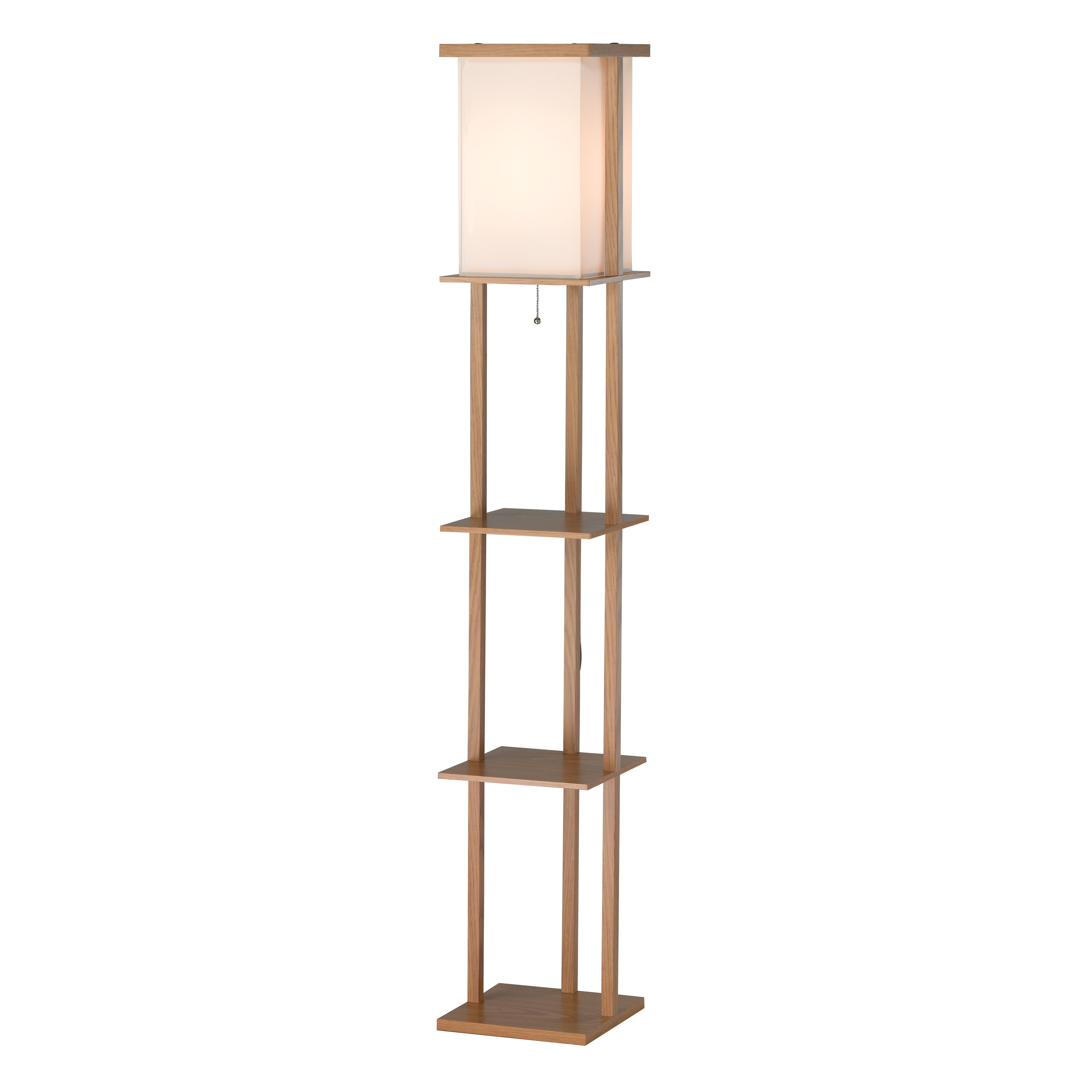 adesso barbery shelf 63 floor lamp reviews wayfair. Black Bedroom Furniture Sets. Home Design Ideas