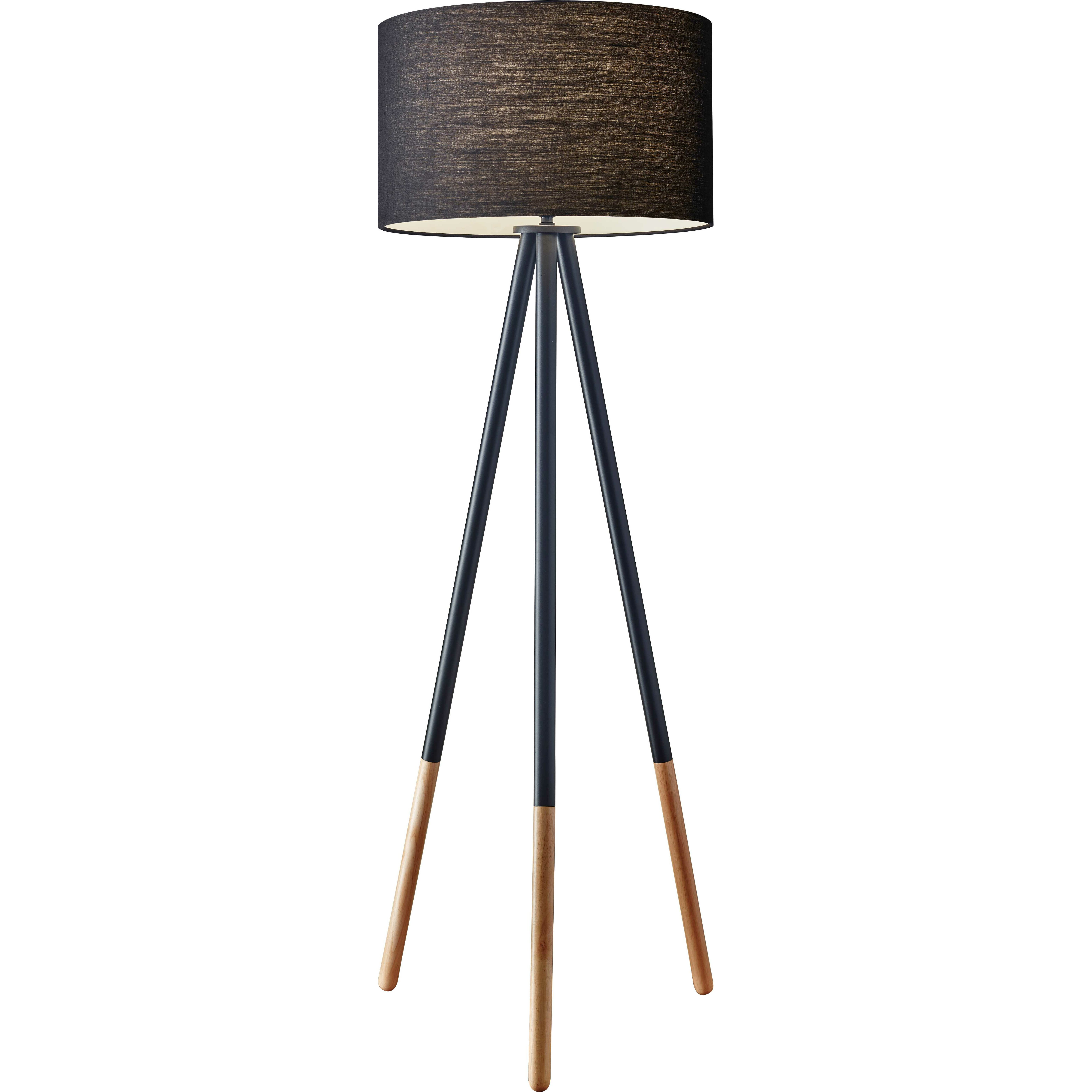 "Adesso Louise 60.25"" Tripod Floor Lamp & Reviews 