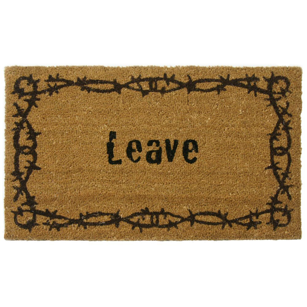 Rubber cal inc leave unwelcome doormat reviews wayfair - Doormat that says leave ...