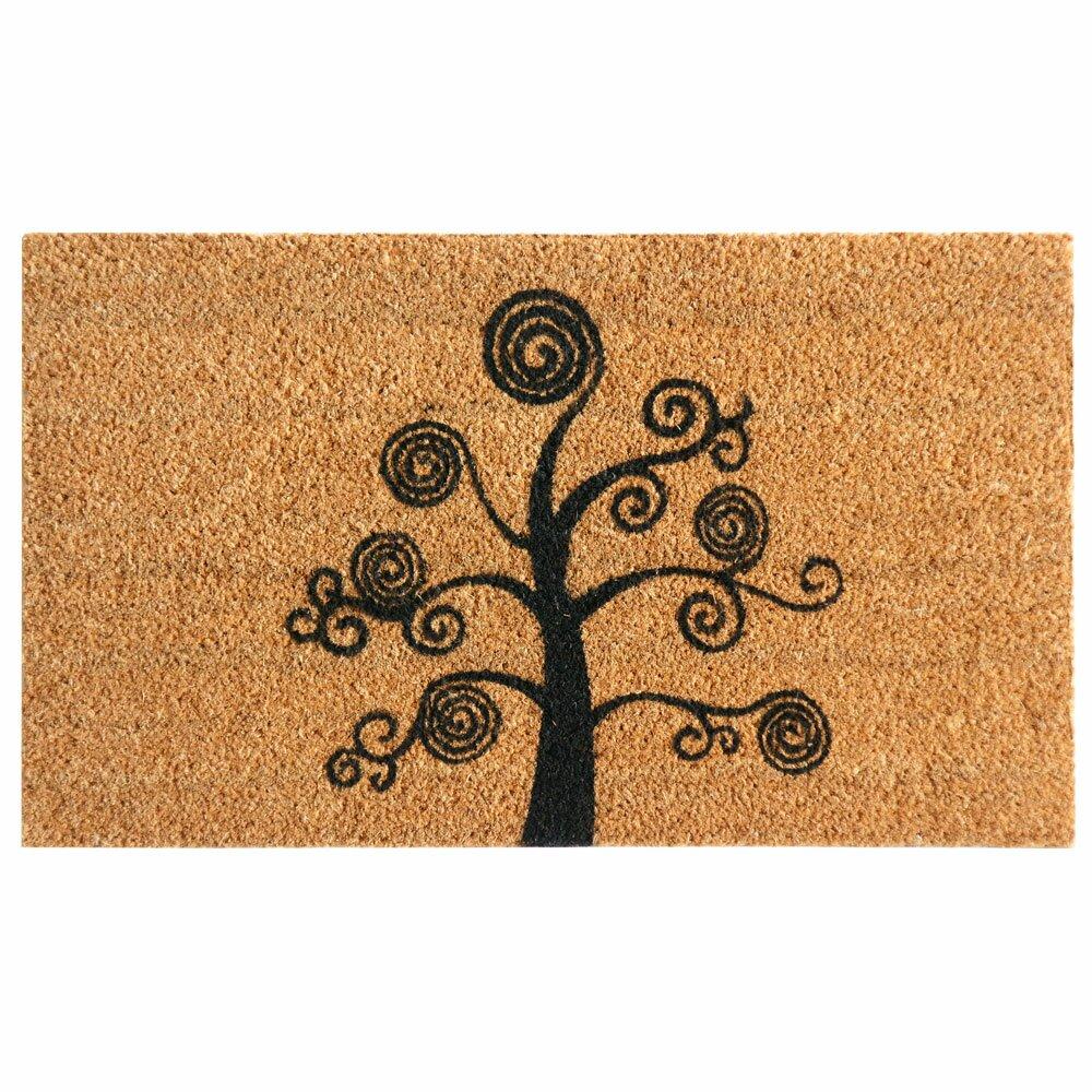 rubber cal inc deciduous tree modern doormat amp reviews