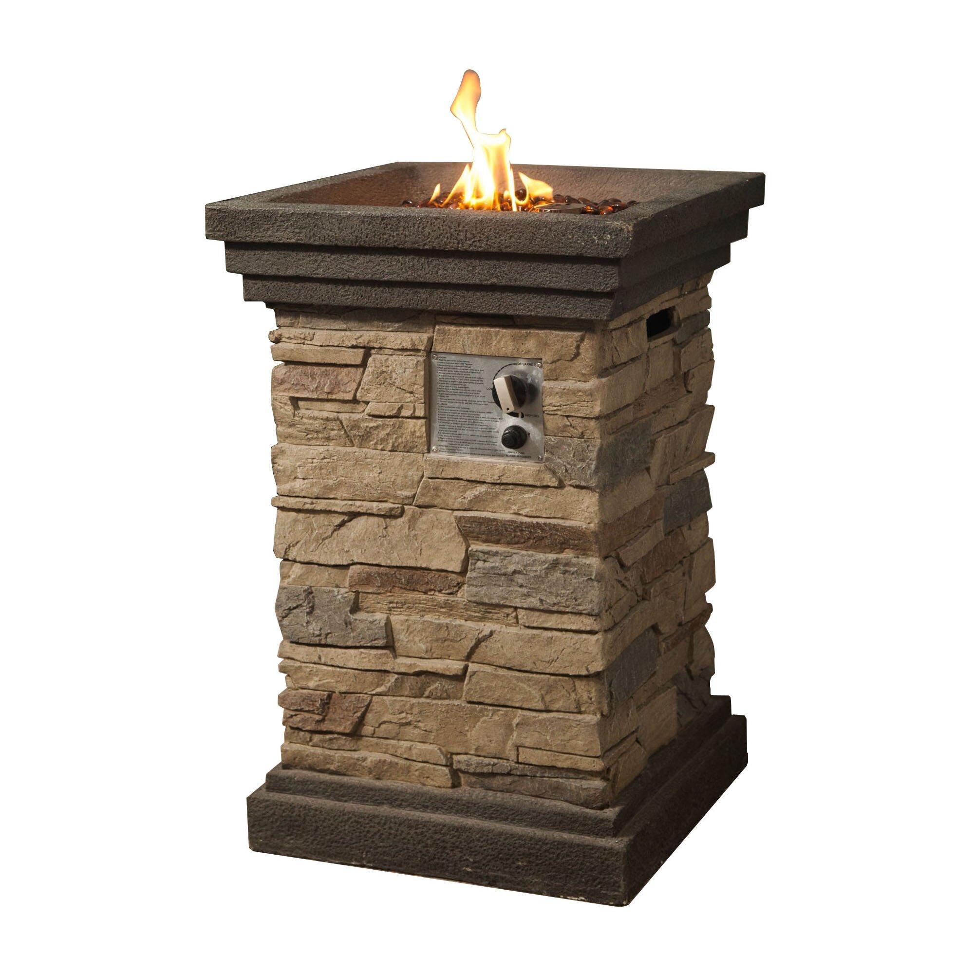 Rock Gas Fire Pit | Wayfair
