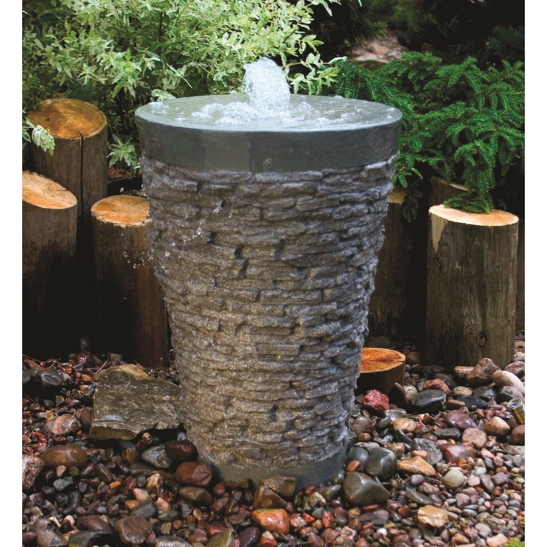 Aquascape Fountain: Aquascape Stacked Slate Fountain Kit & Reviews