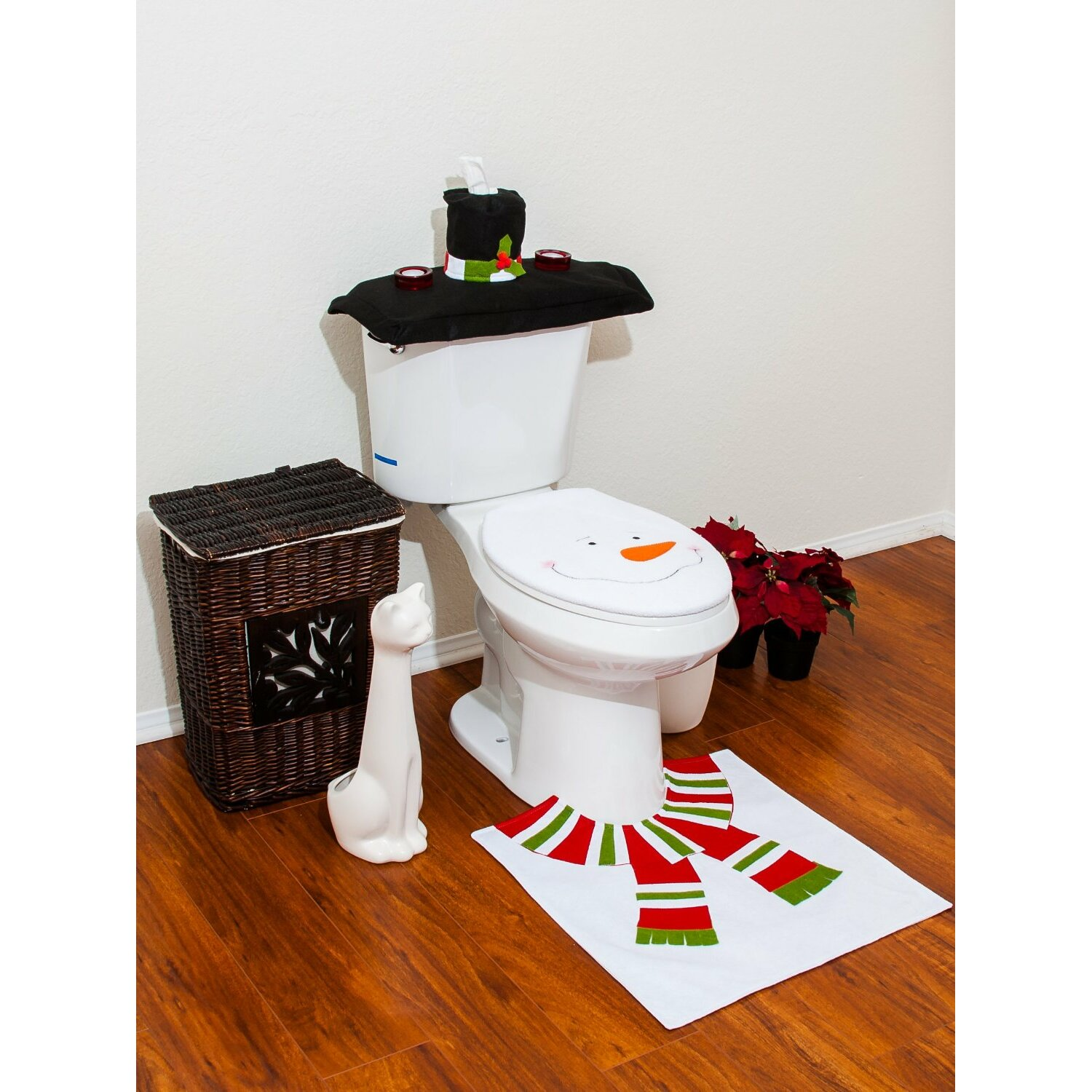 christmas snowman bathroom 4 piece bath linen set reviews wayfair