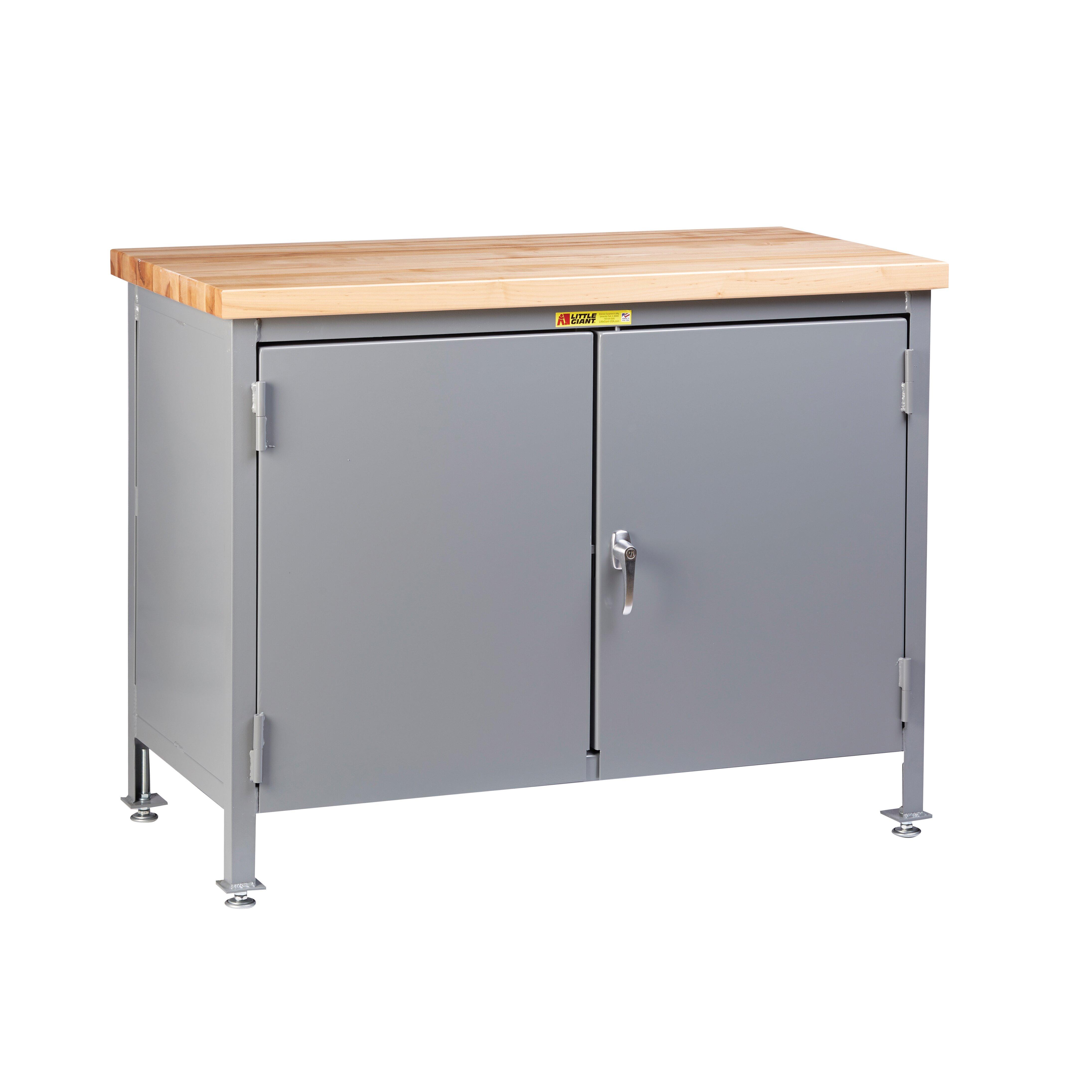 work center cabinet with butcher block top wayfair
