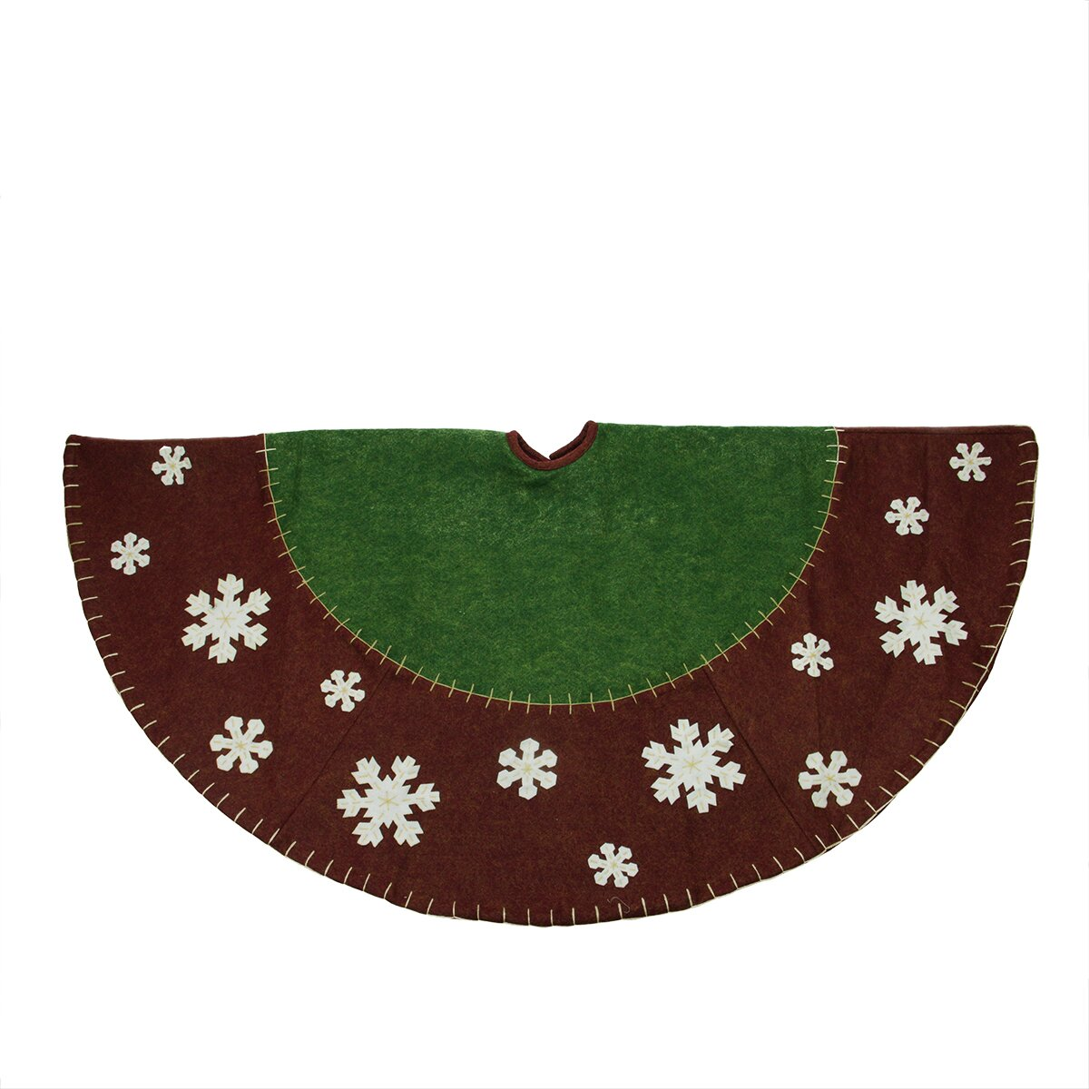 Northlight country christmas tree skirt with snowflake