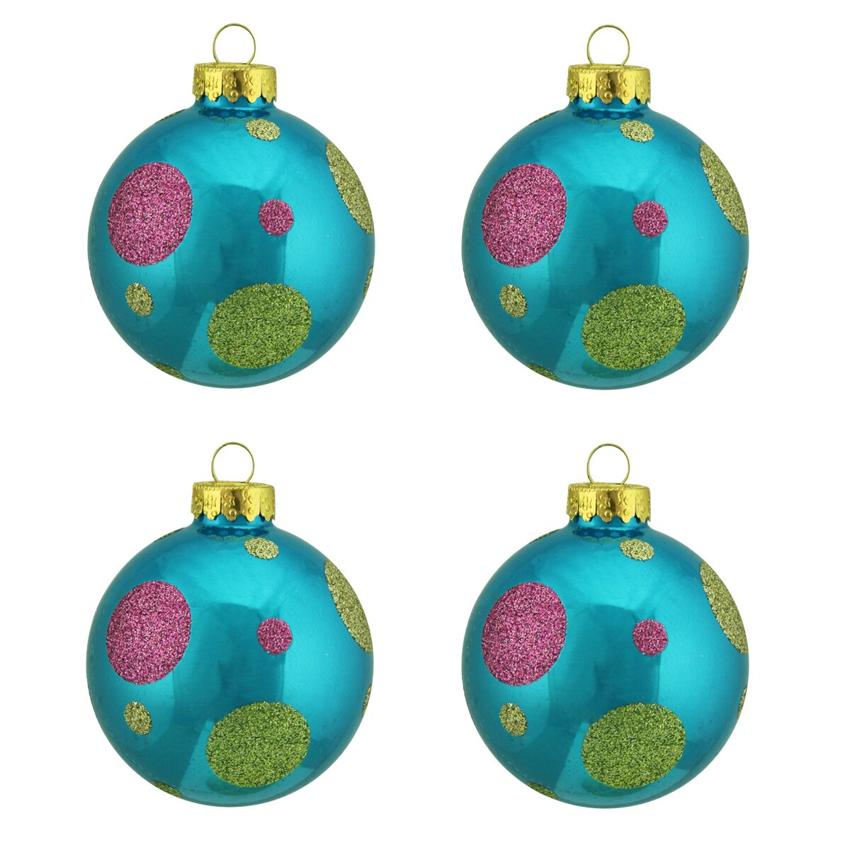 28 christmas ornaments design christmas ornament embroidery glitter polka dot design glass ball christmas ornament by northlight