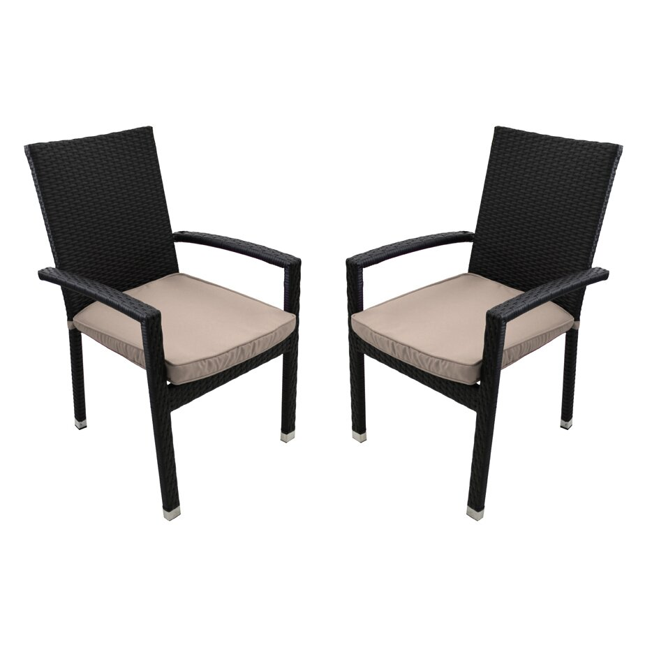 Outdoor Patio Furniture Dining Chair with Cushion