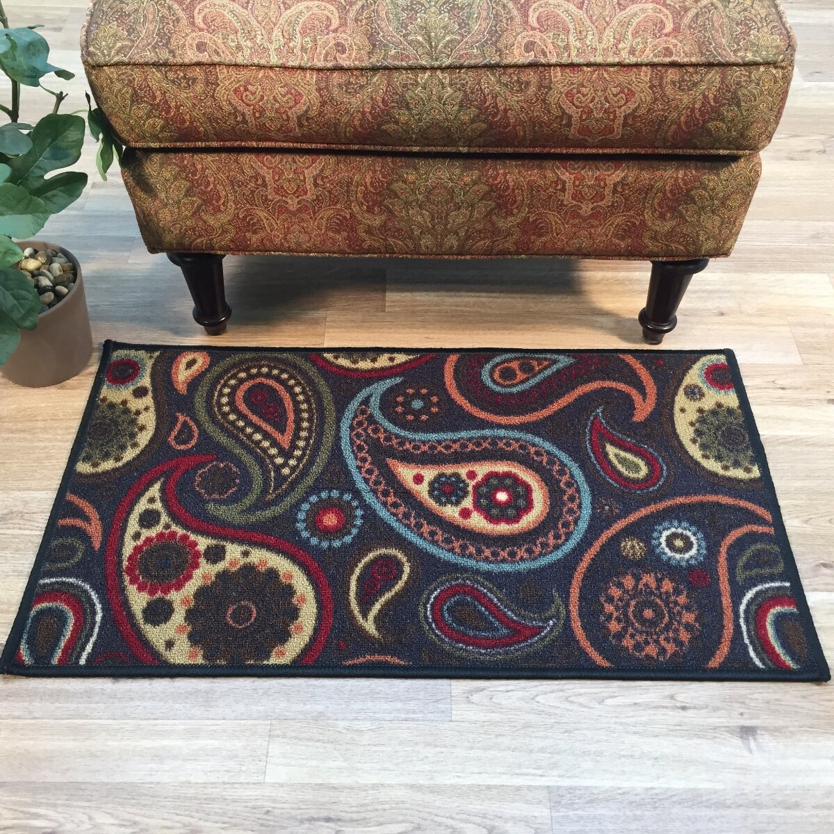 Paisley Area Rugs: Rugnur Hammam Maxy Home Paisley Floral Red Area Rug