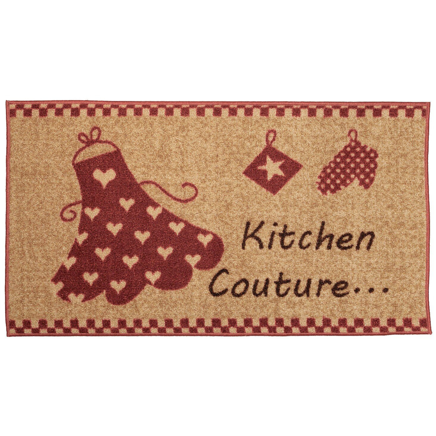 cucina couture red ivory kitchen area rug wayfair