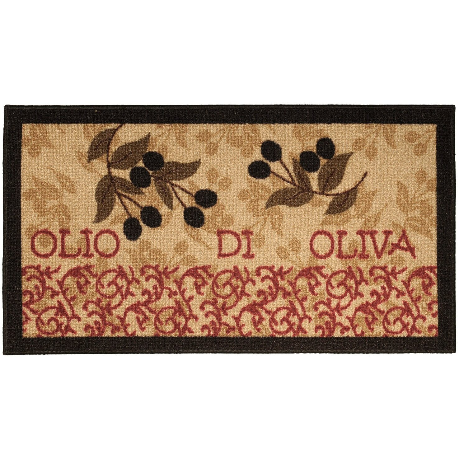 cucina italian garden olive kitchen area rug reviews wayfair