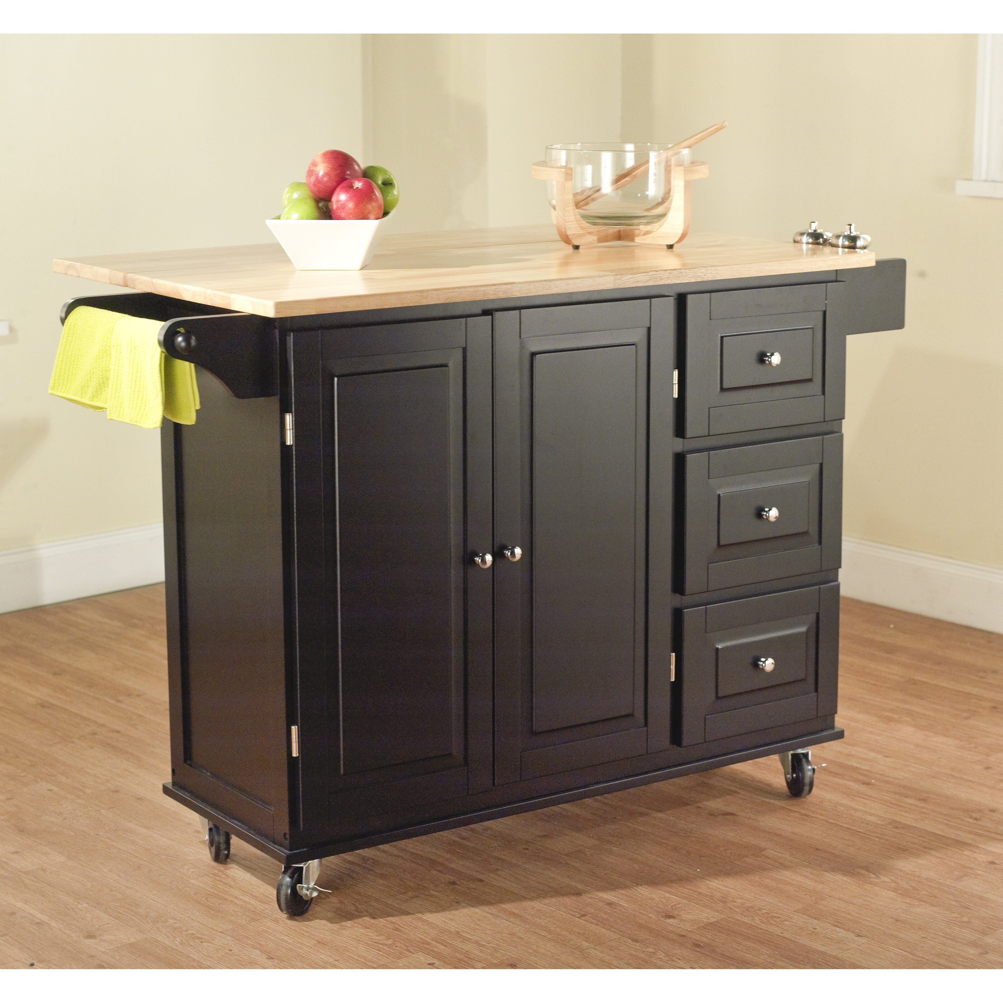 darby home co arpdale kitchen island with wood top custom wood kitchen island top flickr photo sharing