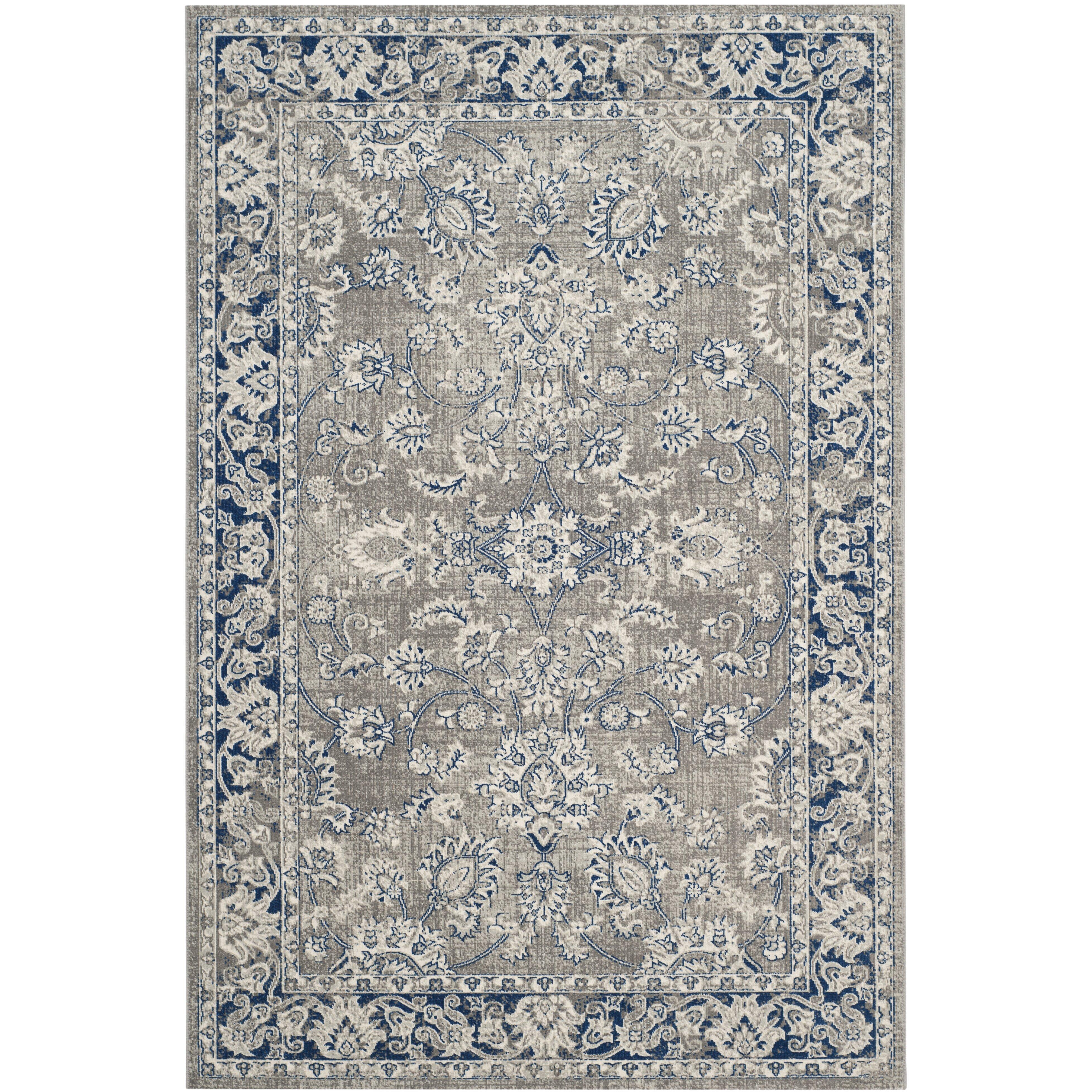 darby home co harwood gray blue area rug reviews wayfair. Black Bedroom Furniture Sets. Home Design Ideas