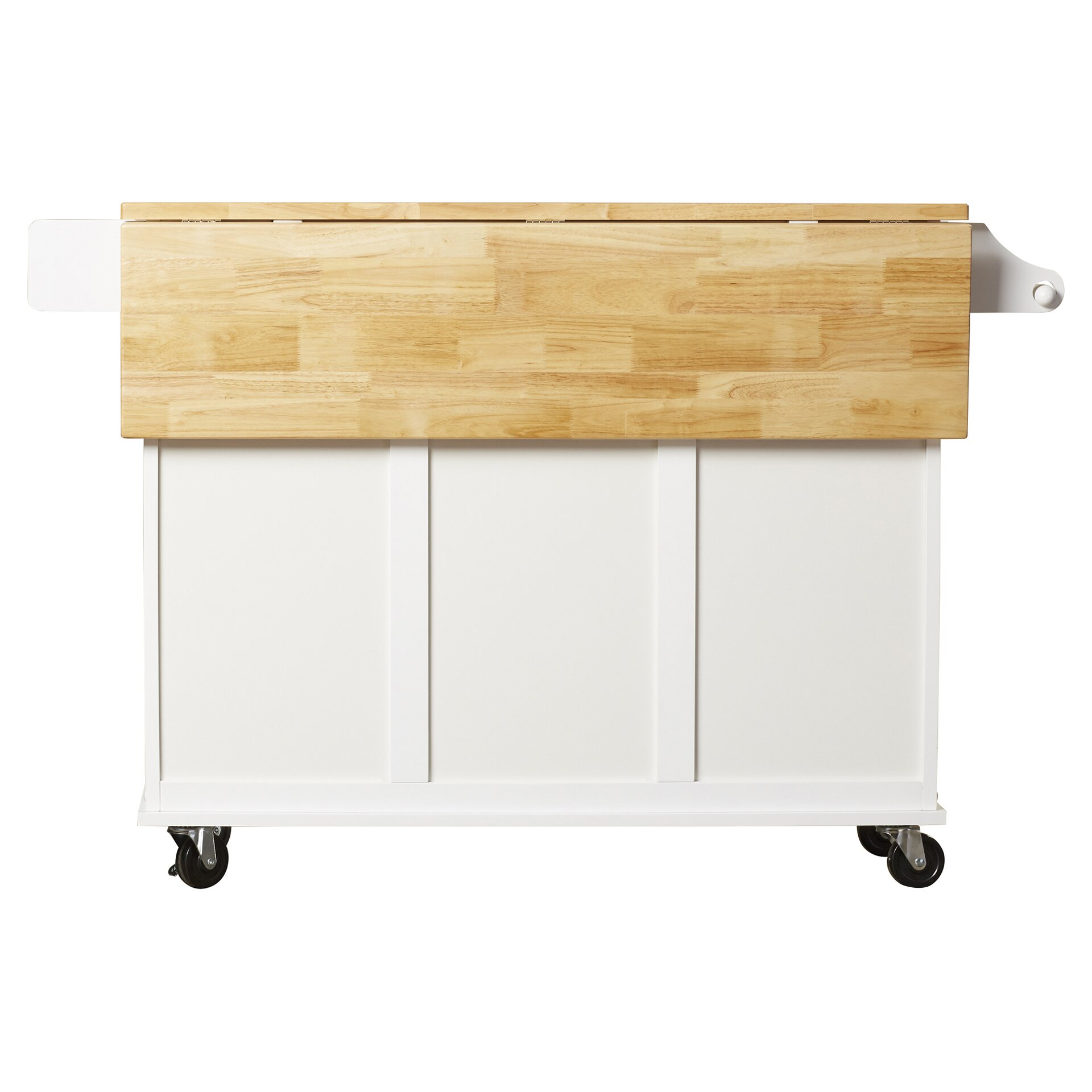 darby home co arpdale kitchen island with wood top designing a kitchen domestic imperfection