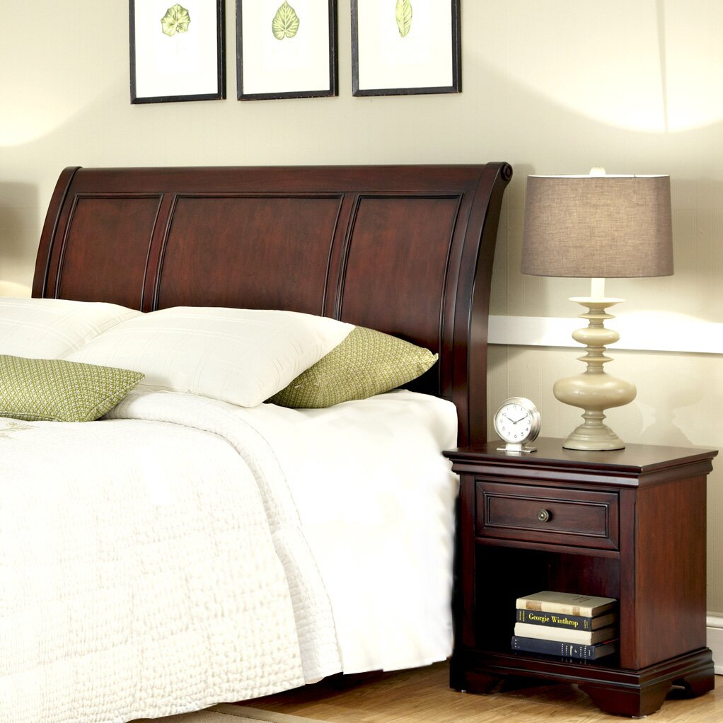 Darby Home Co Linthicum Sleigh 2 Piece Bedroom Set