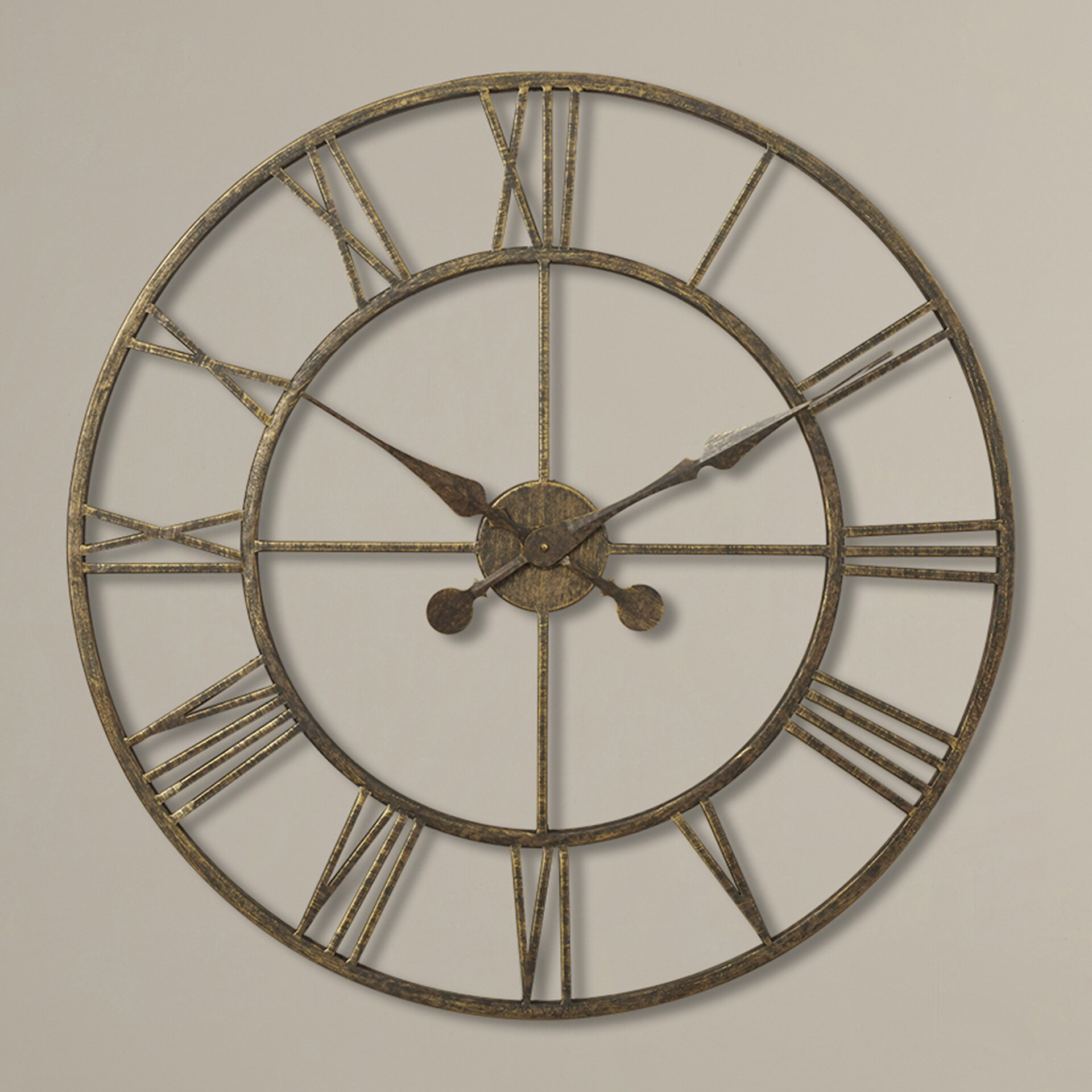 Darby Home Co Oversized 30 Quot Skeleton Tower Wall Clock