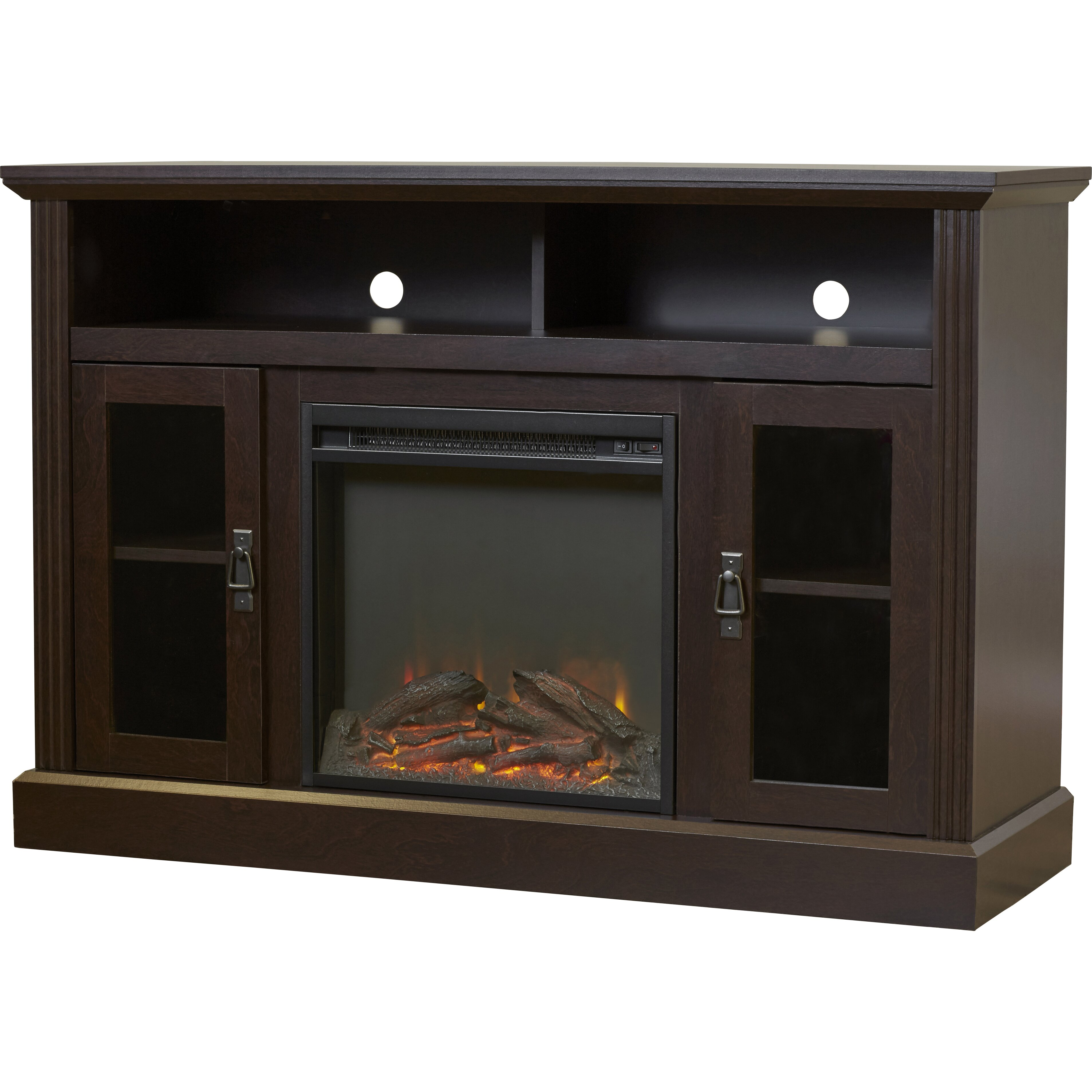 darby home co cristemas tv stand with electric fireplace reviews wayfair. Black Bedroom Furniture Sets. Home Design Ideas