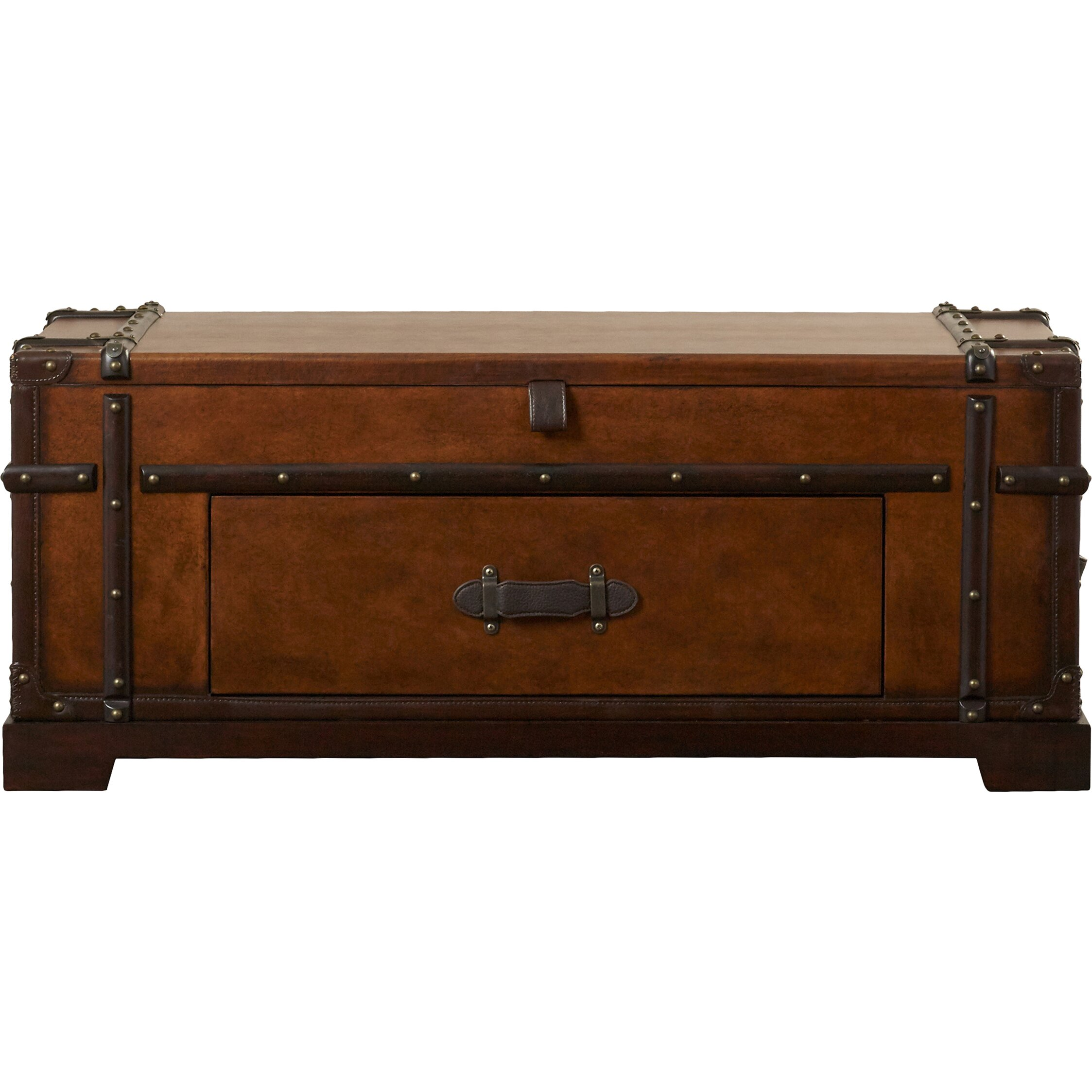 Barrett Trunk Coffee Table With Lift Top: Darby Home Co Colby Lane Coffee Table Trunk With Lift Top