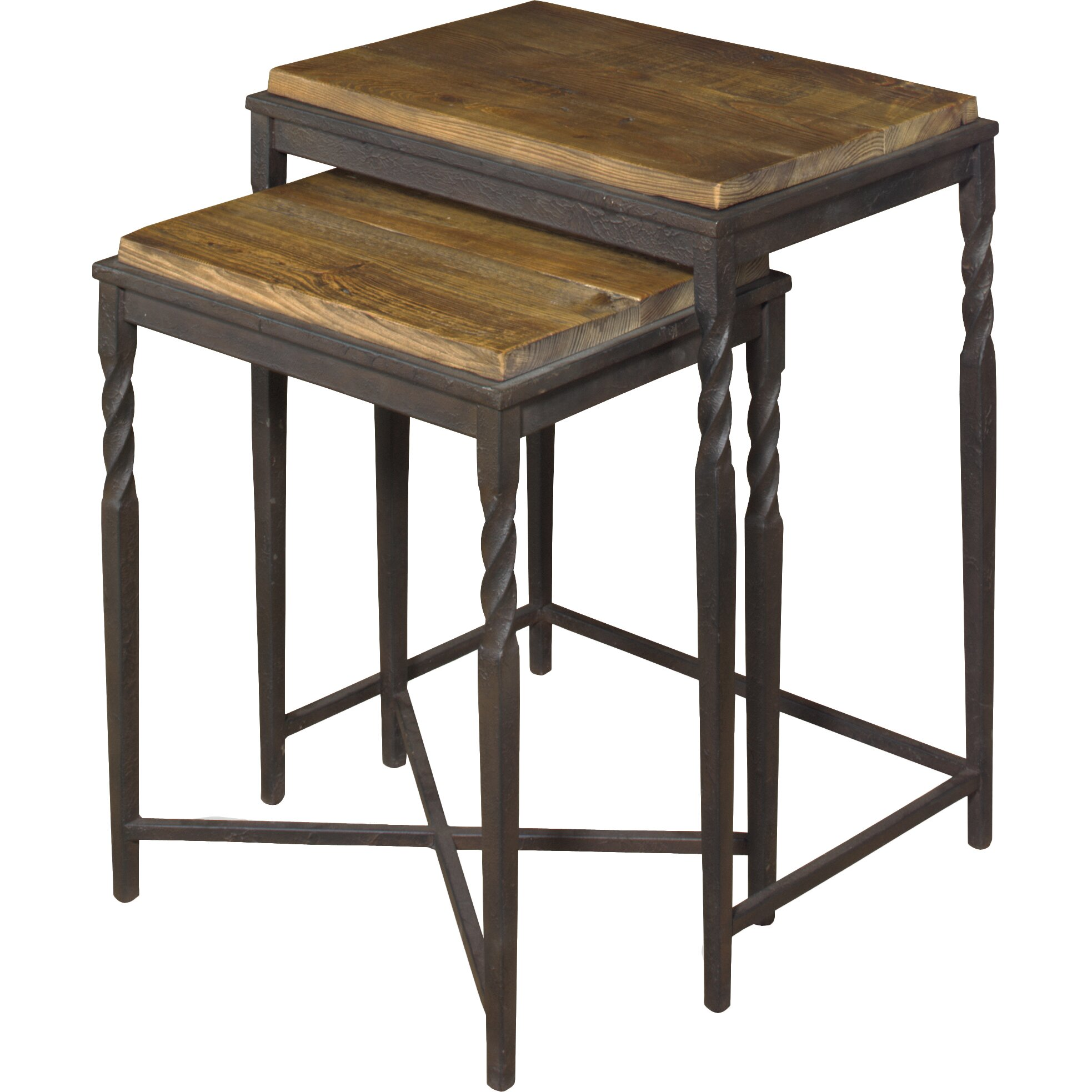 Darby Home Co Akins 2 Piece Nesting Table Set & Reviews Wayfair. Full resolution  portraiture, nominally Width 1966 Height 1966 pixels, portraiture with #8C6D3F.