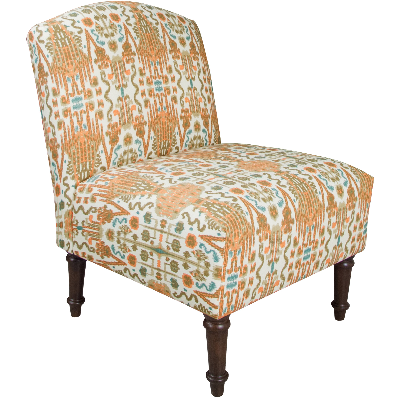 Alcott Hill Ikat Back Slipper Chair & Reviews