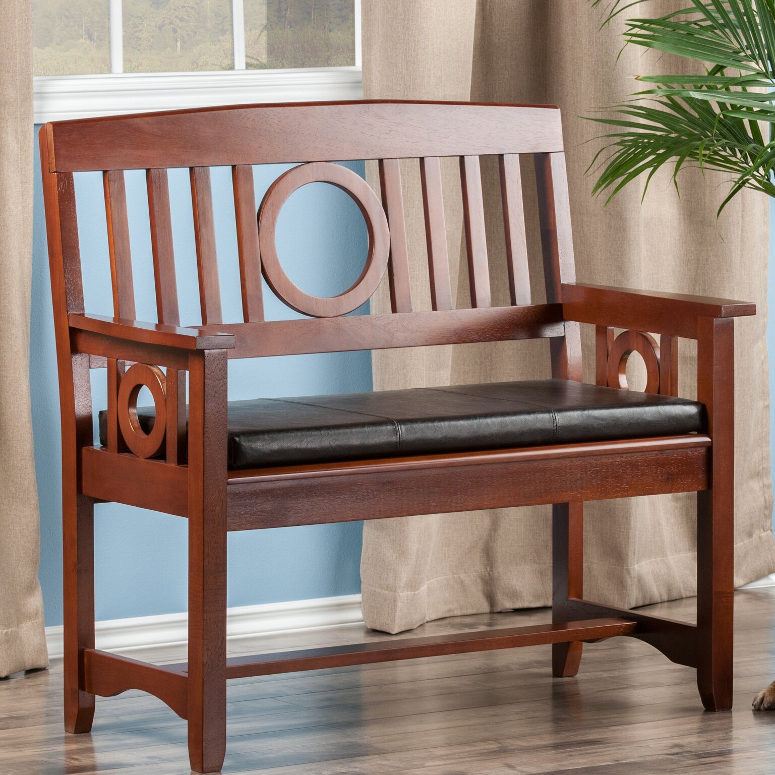Alcott Hill Maineville Wood Entryway Bench & Reviews