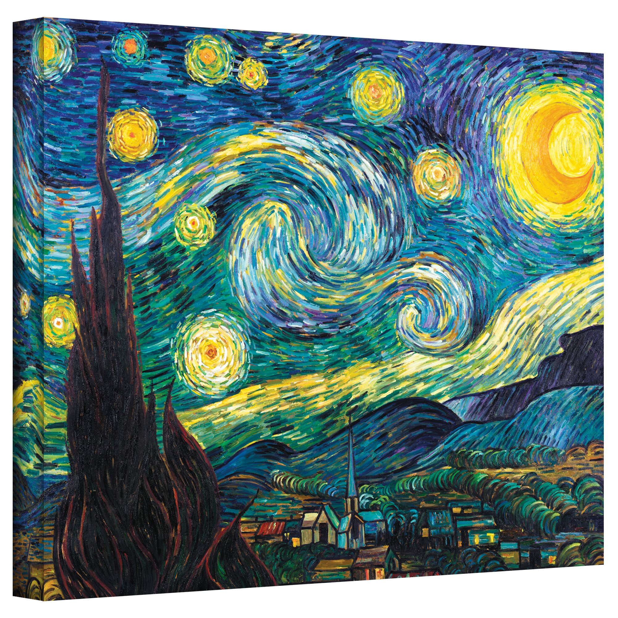 Alcott Hill 'Starry Night' by Vincent Van Gogh Print of ...