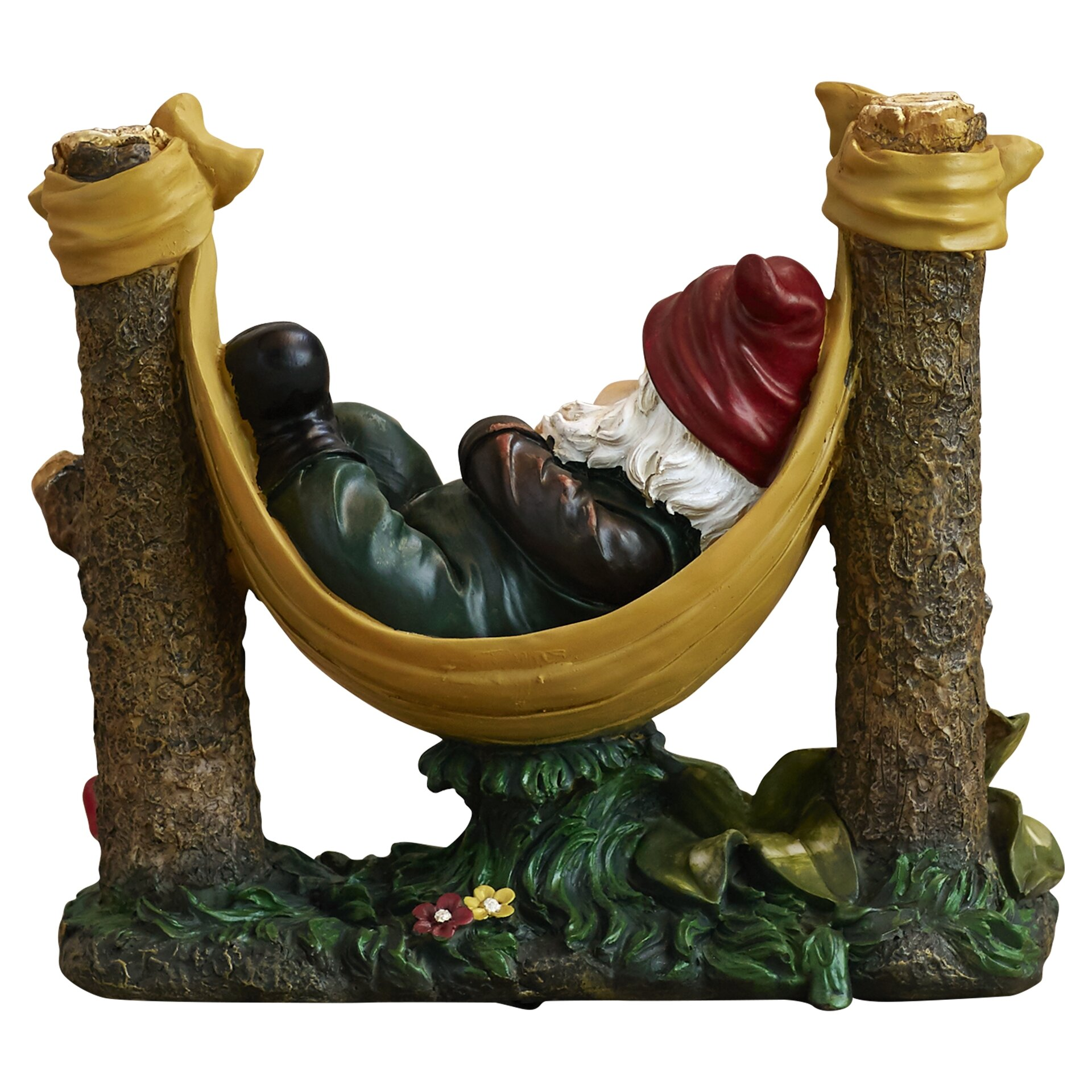 Gnome In Garden: Alcott Hill Sleeper Garden Gnome Statue & Reviews