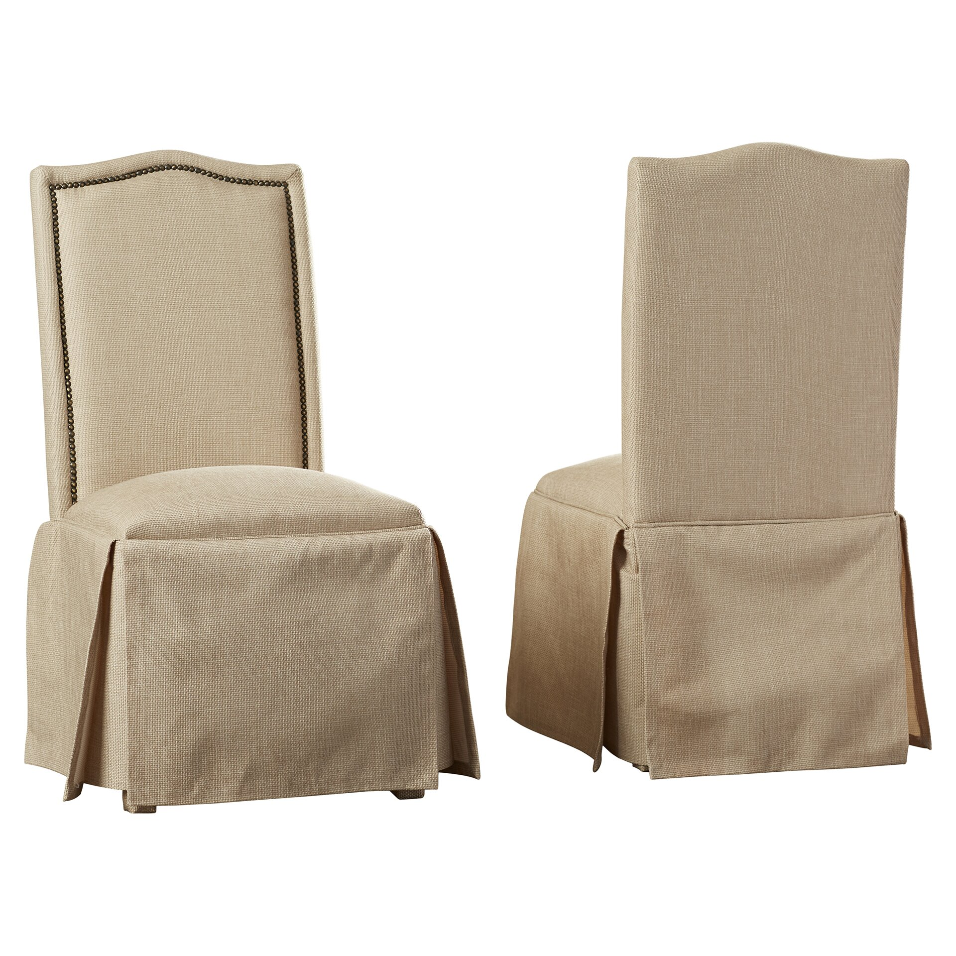 charlton home archie skirted parsons chair reviews wayfair