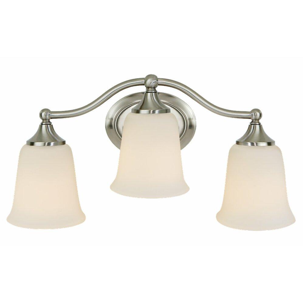 Charlton Home Ruggenale 3 Light Bath Vanity Light Reviews Wayfair Supply