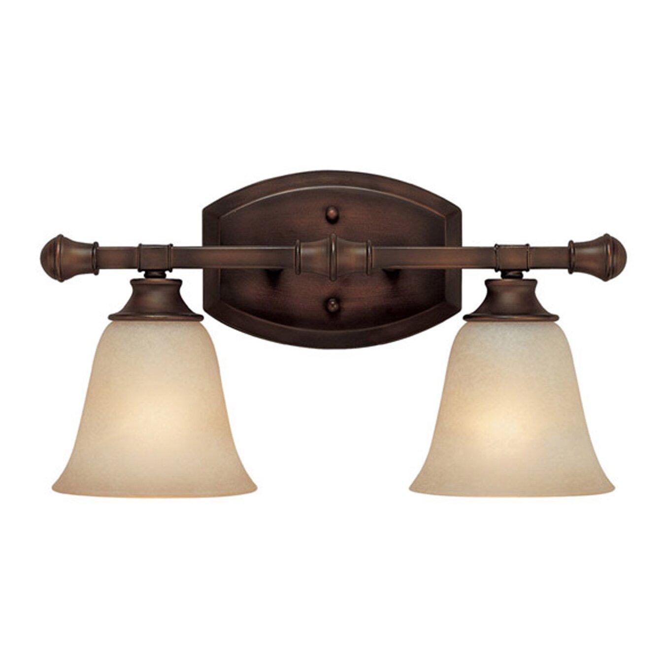 Charlton Home Lindenwood 2 Light Bath Vanity Light in Creek Stone & Reviews Wayfair