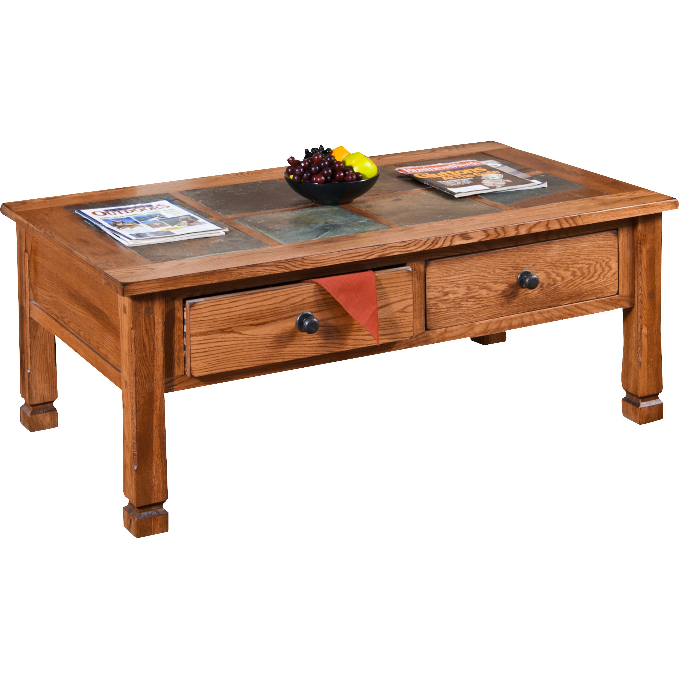 Loon peak midvale coffee table with slate top reviews wayfair Slate top coffee tables